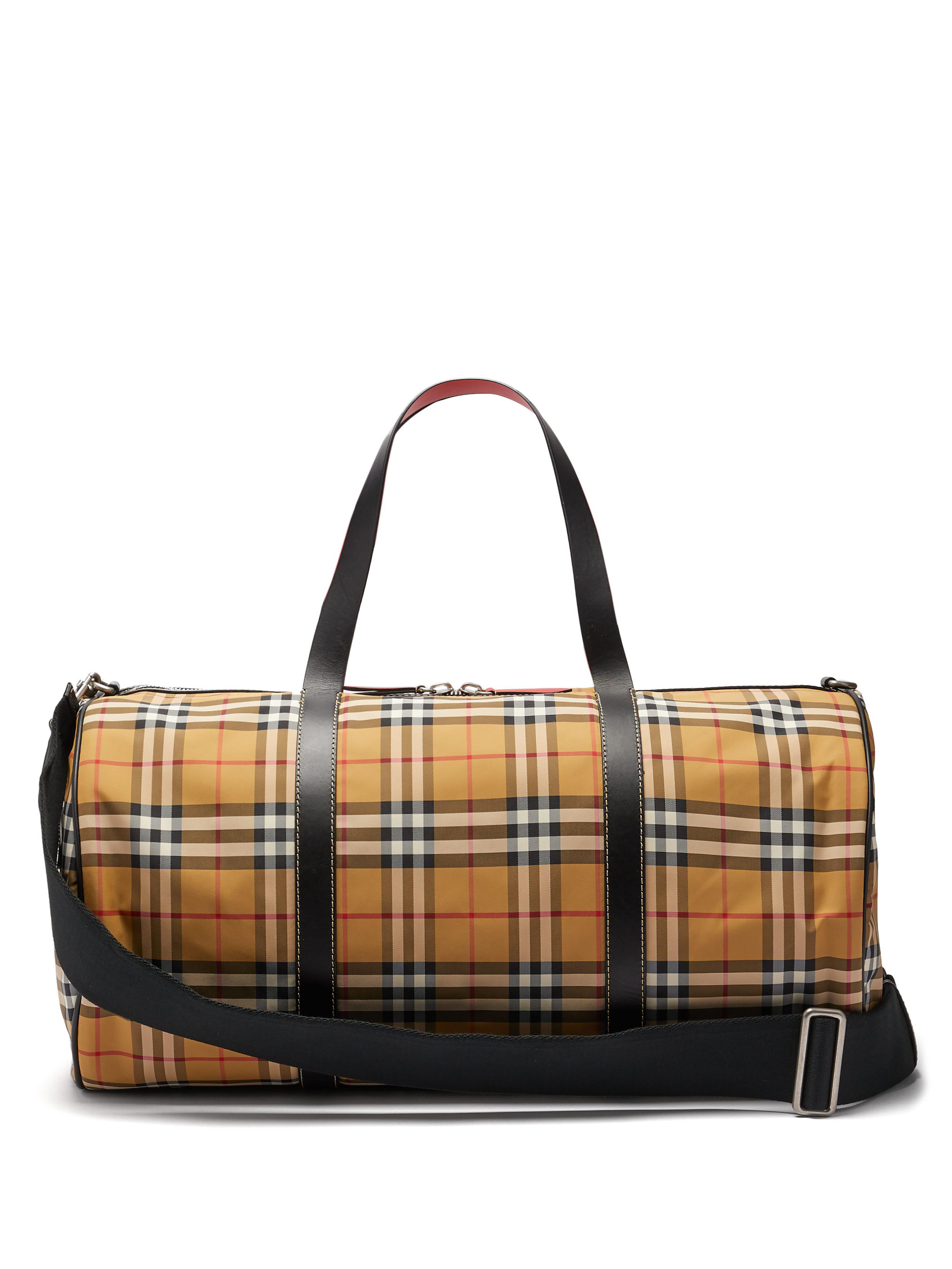 3c30bc570db3 Burberry Kennedy Vintage Check Weekend Bag in Brown - Lyst