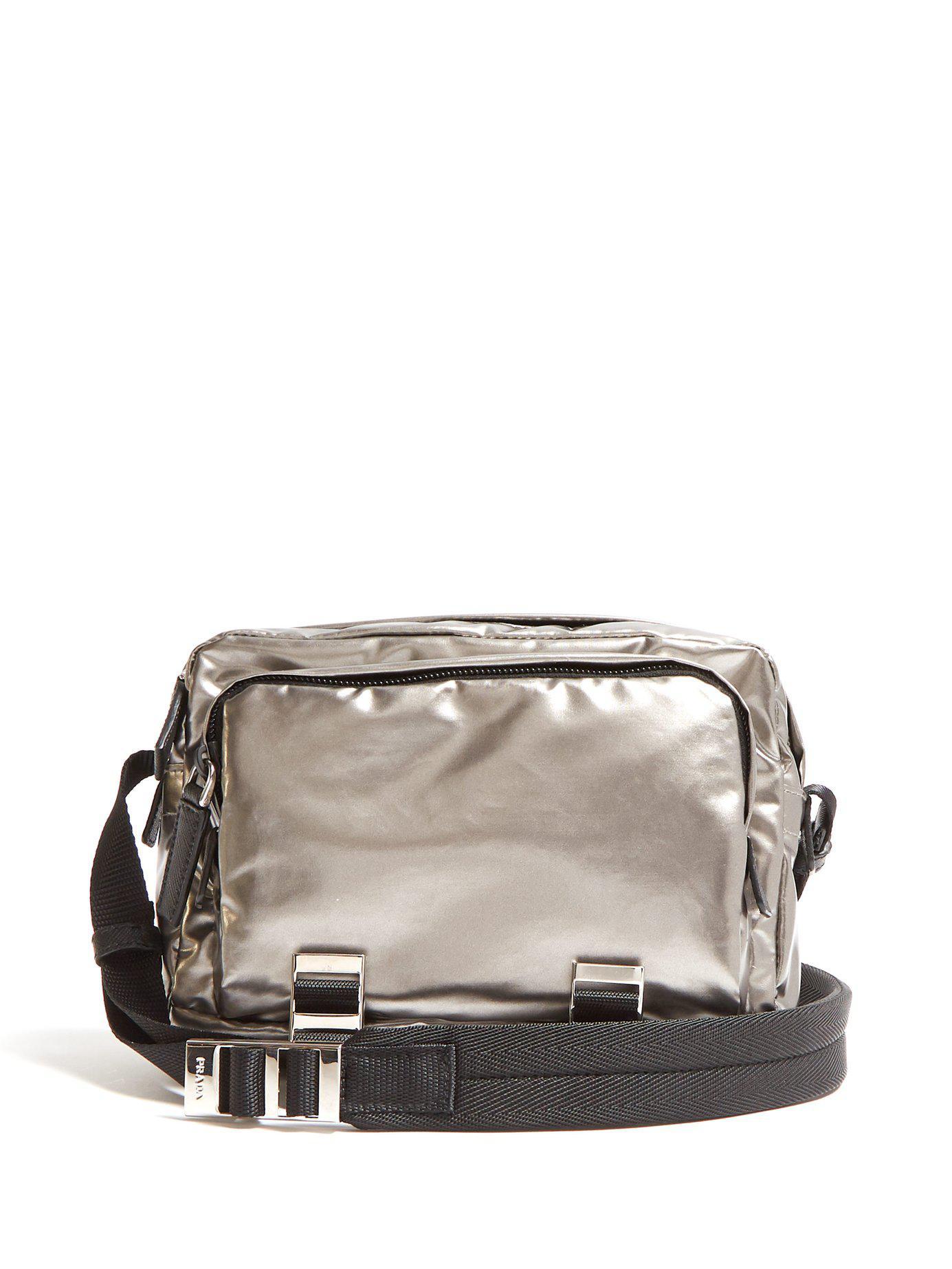 85011091f915 Lyst - Prada Metallic Nylon Cross Body Bag in Metallic for Men