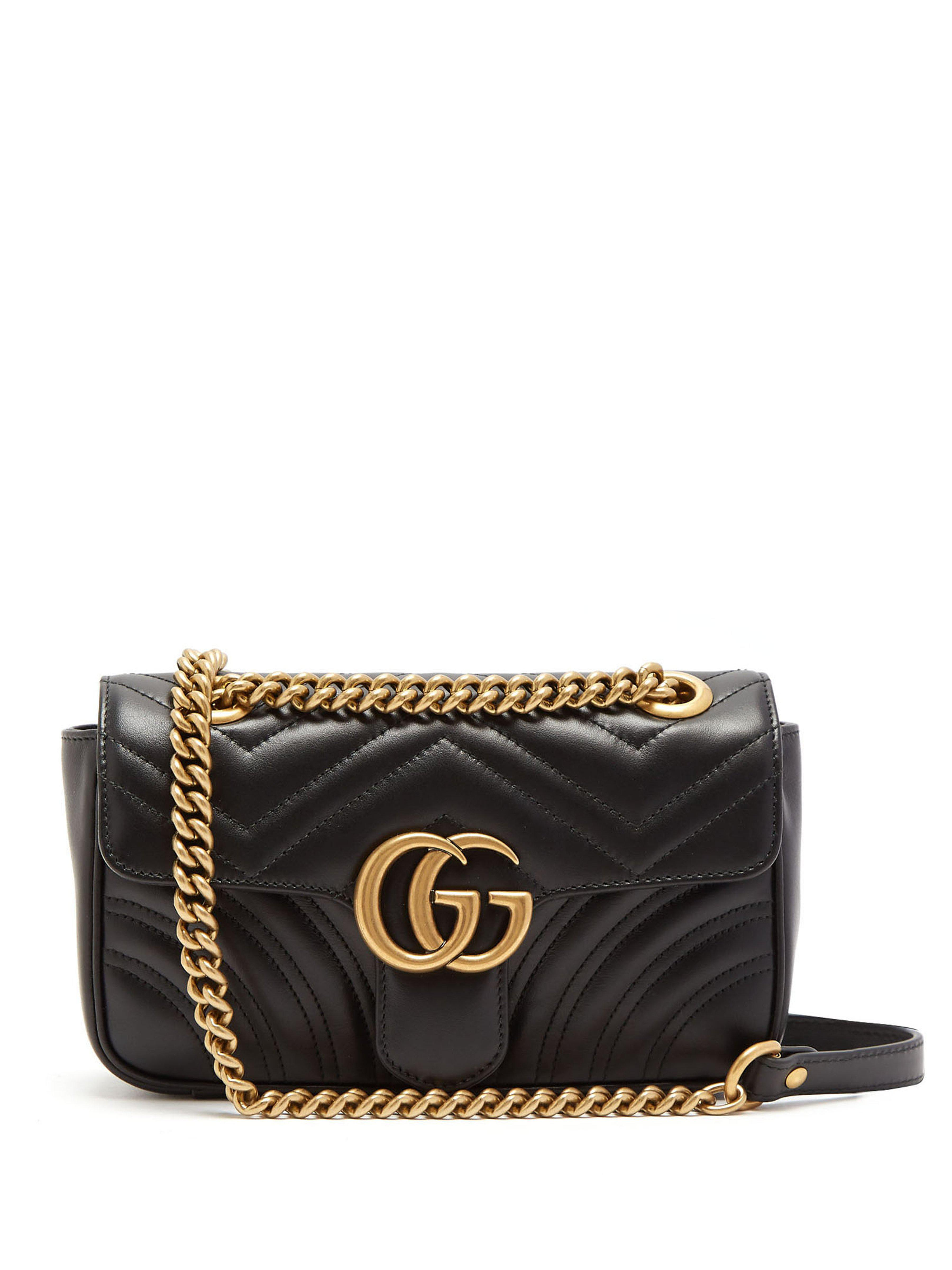 Gucci Small GG Marmont Matelasse Shoulder Bag in Black - Save 34% - Lyst f31b5862f05a4