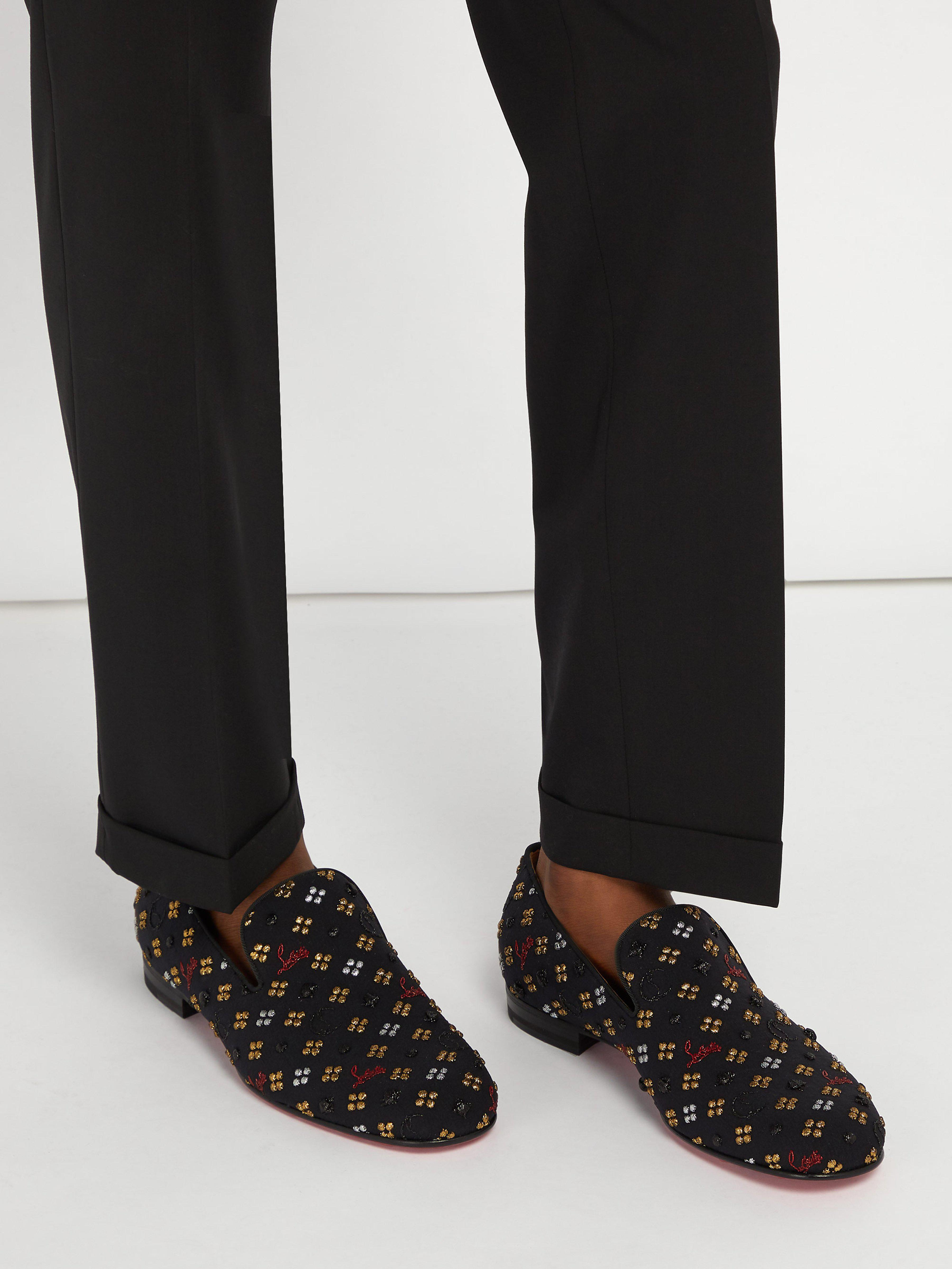 792f7d93759 Christian Louboutin Rollerboy Jacquard Loafers in Black for Men - Lyst