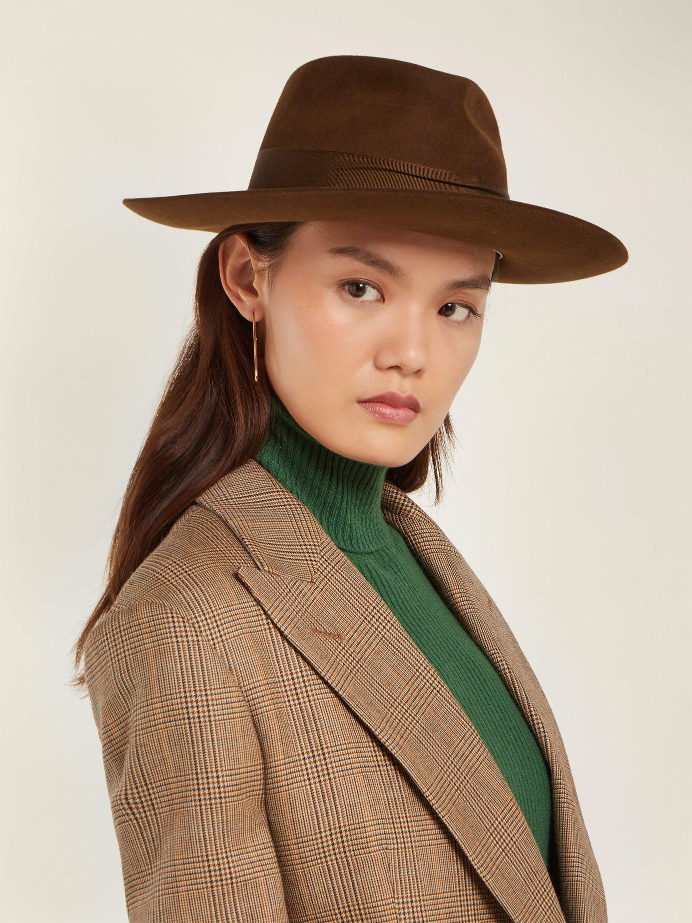 Hillier Bartley X Lock   Co. Portobello Felt Fedora Hat in Brown - Lyst 73be15e0206