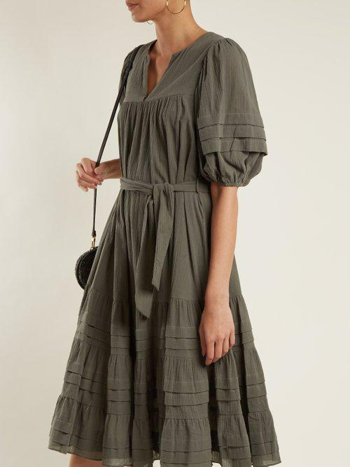 Kali tuck-detail cotton dress Zimmermann oUCUDy