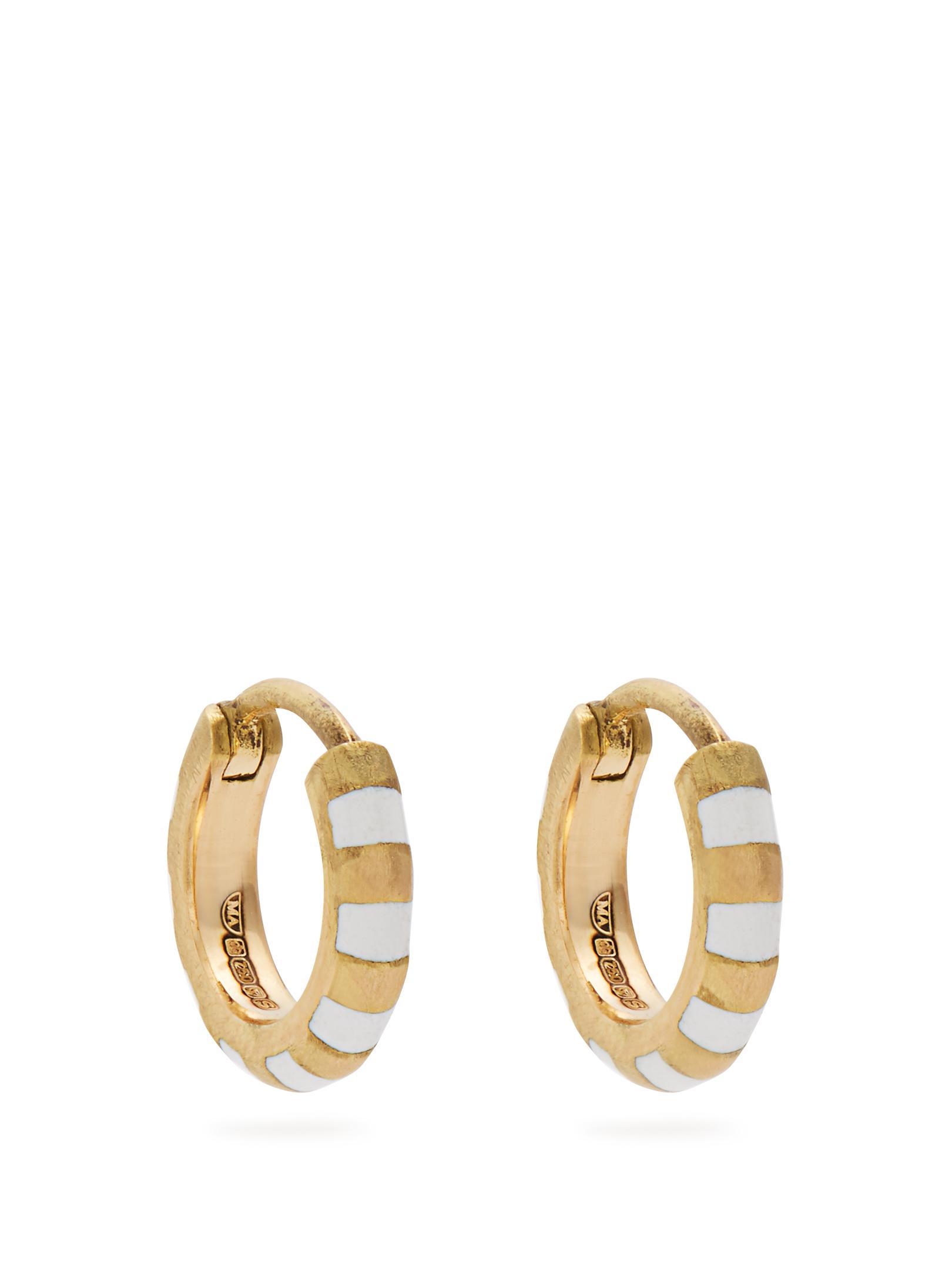 Marc Alary Enamel & yellow-gold earrings phjtce