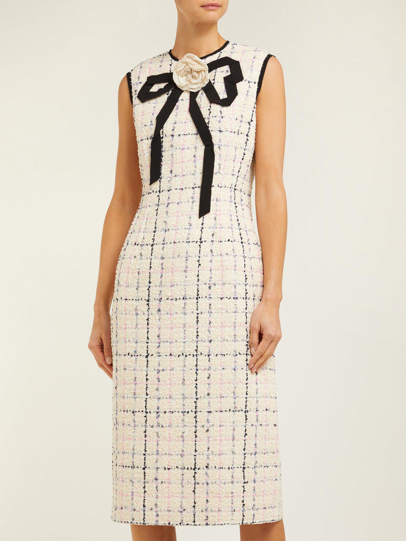 2d570018af Gucci Tweed Dress - Lyst