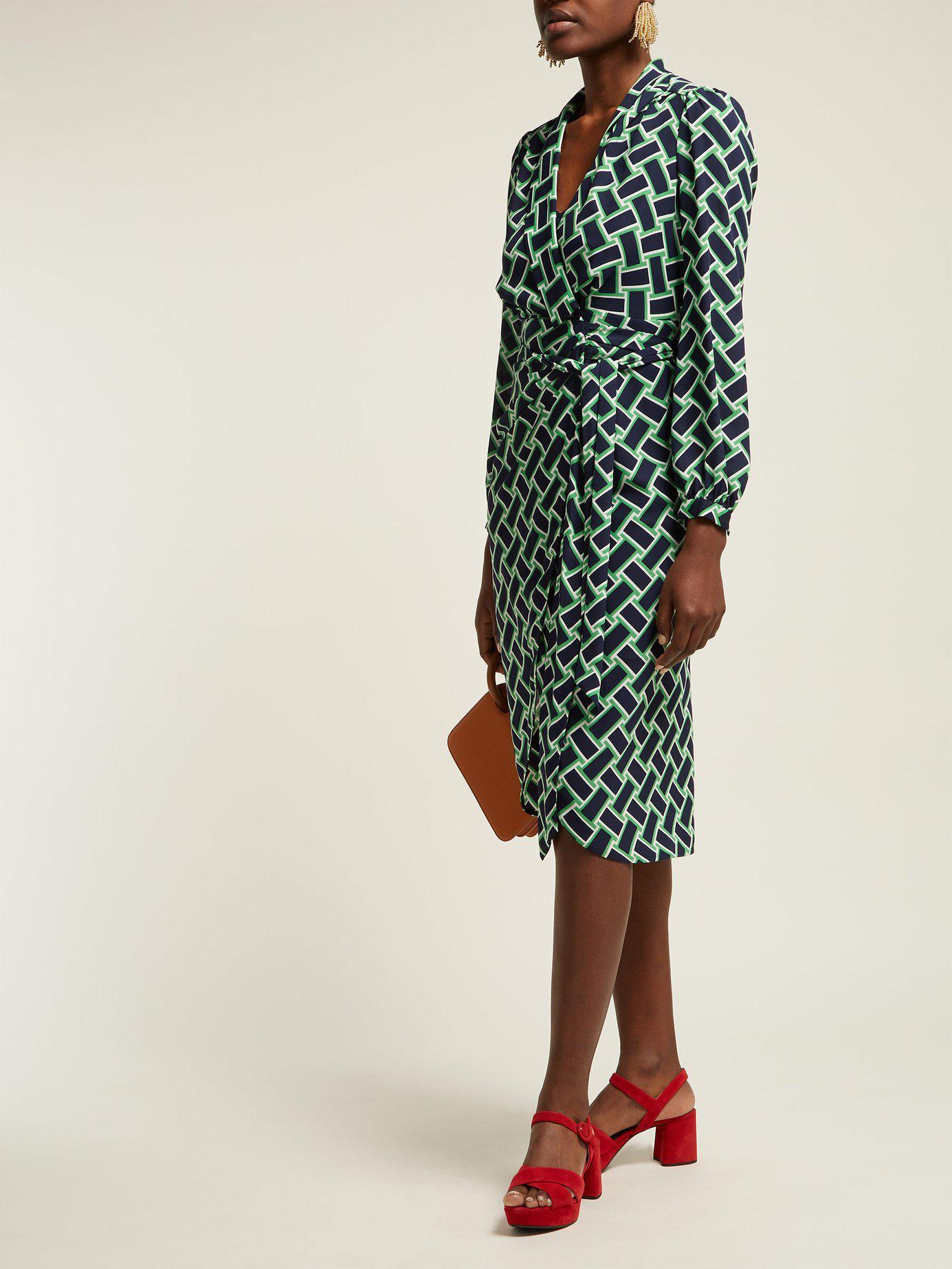 fe44455fe9 Diane von Furstenberg  carla  Dress in Green - Save 60% - Lyst