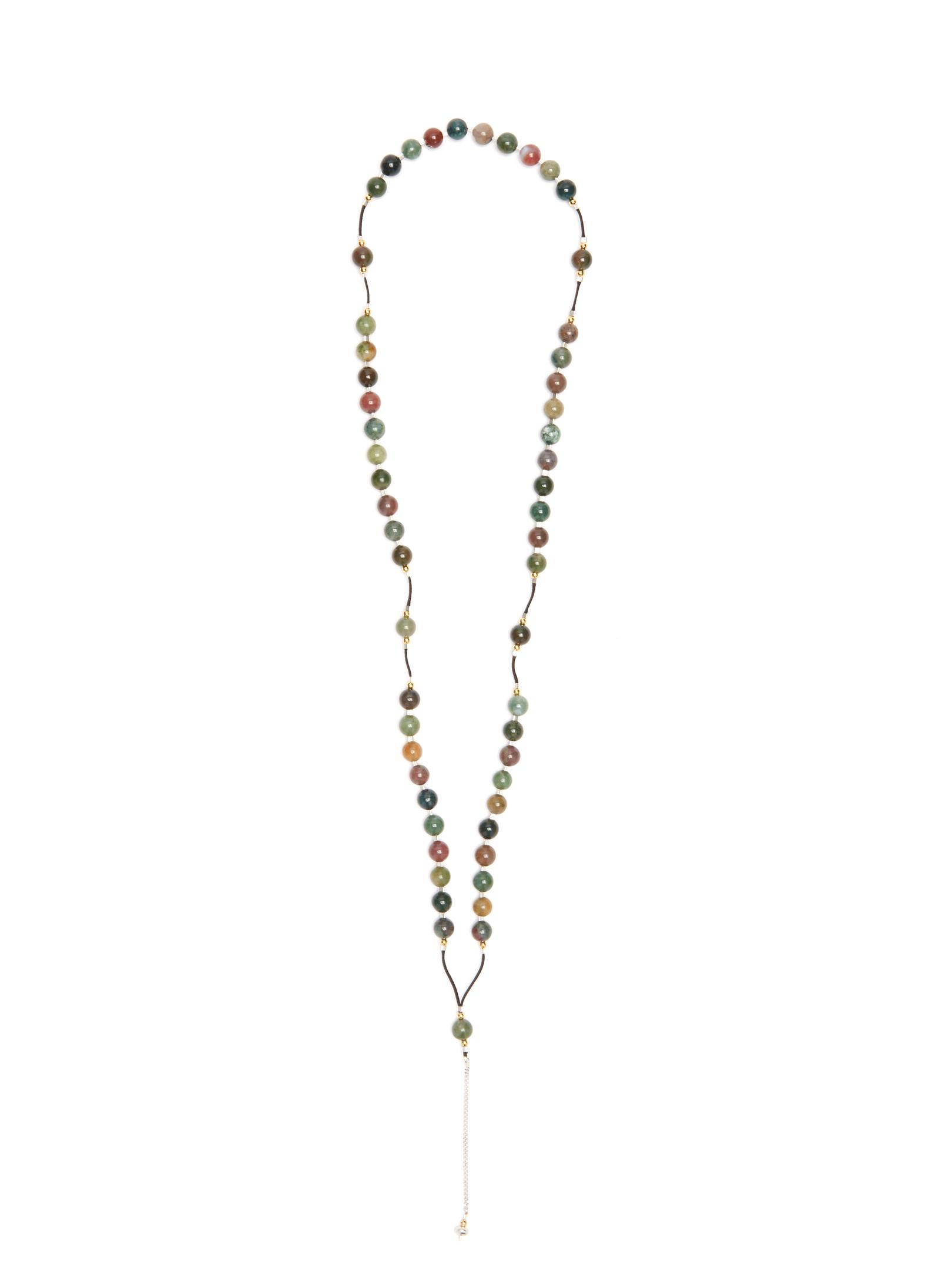 Black Dakini Moss-agate and cord necklace UgqY4hM