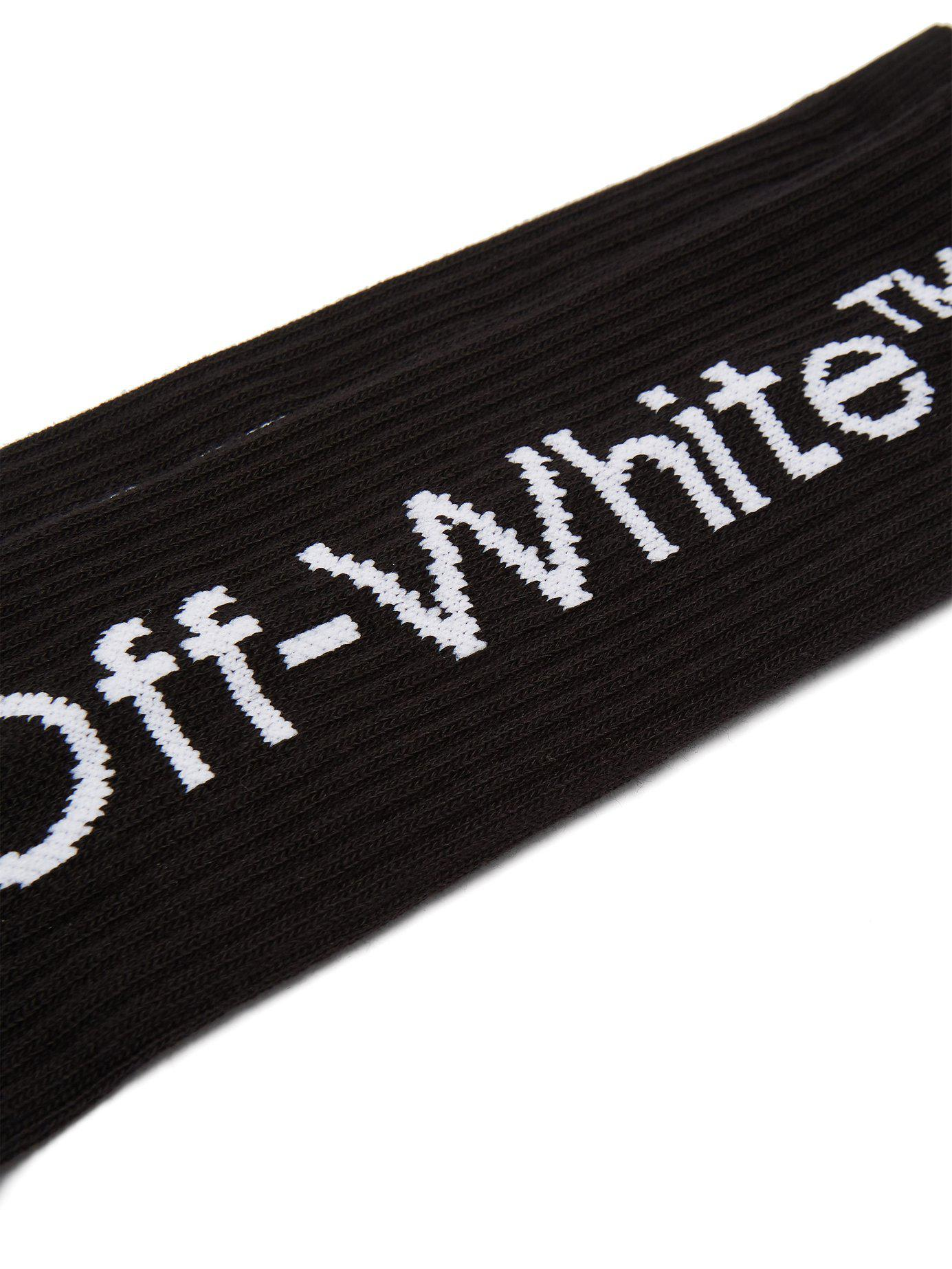 ff68914f58ec Lyst - Off-White c o Virgil Abloh Arrow Cotton Blend Socks in Black for Men  - Save 30%