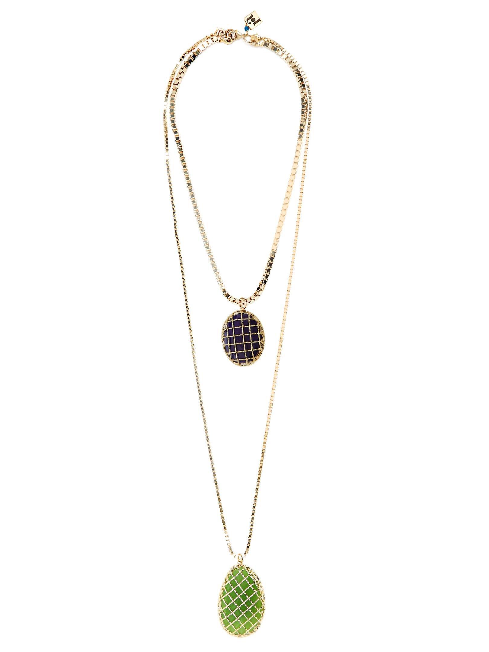 stone double necklace - Blue Rosantica TjN1nRKgA7