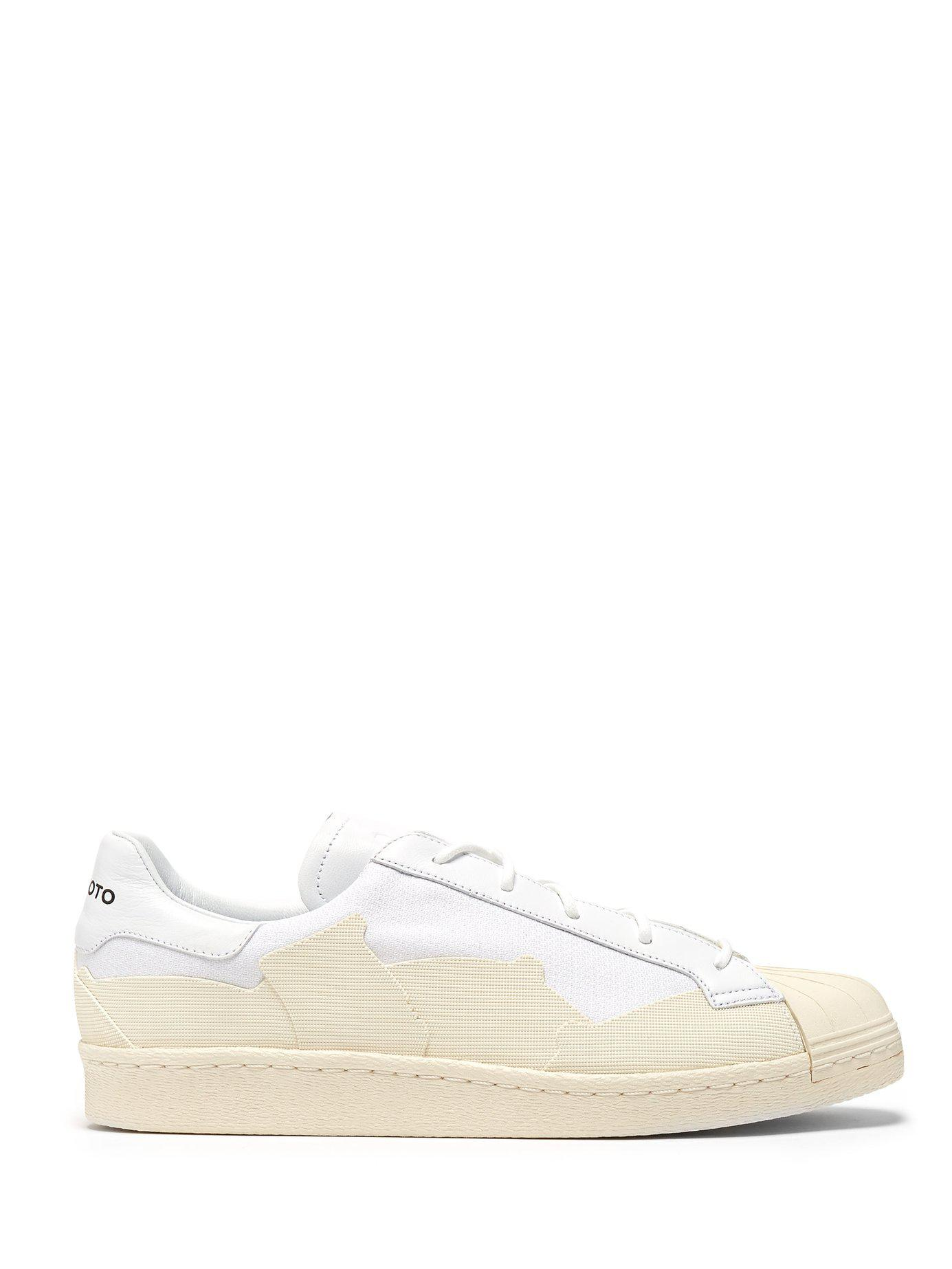 Lyst - Y-3 Super Takusan Canvas And Leather Trainers in White for Men 0d34cbf20ce