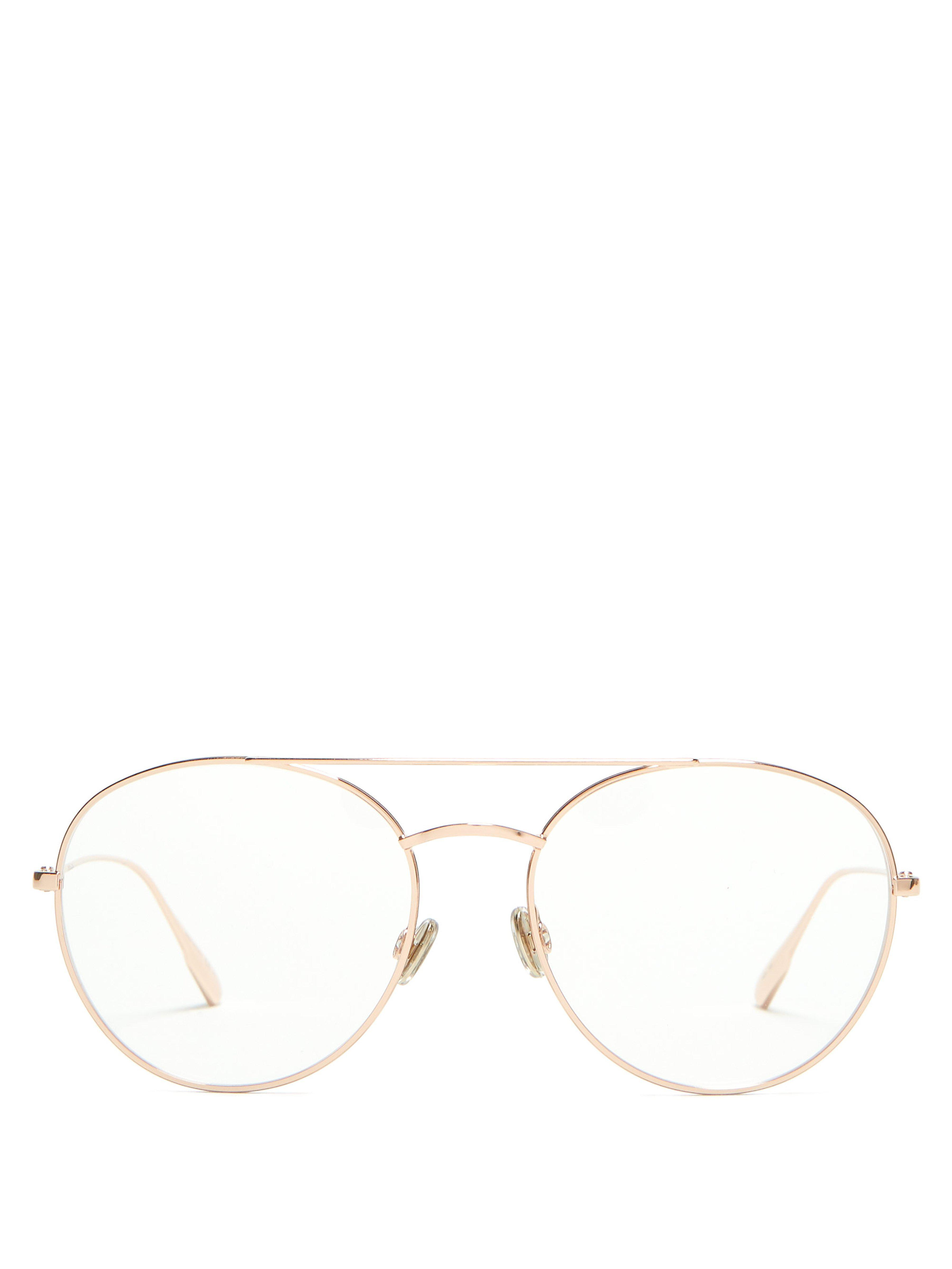 64bace9bc0d7 Dior Diorstellaire05 Rounded Metal Glasses in Metallic - Lyst