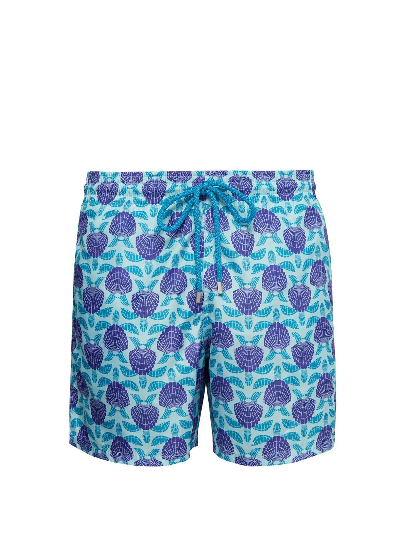 820d18eb28 Lyst - Vilebrequin Mahina Seashell Turtle Print Swim Shorts in Blue ...