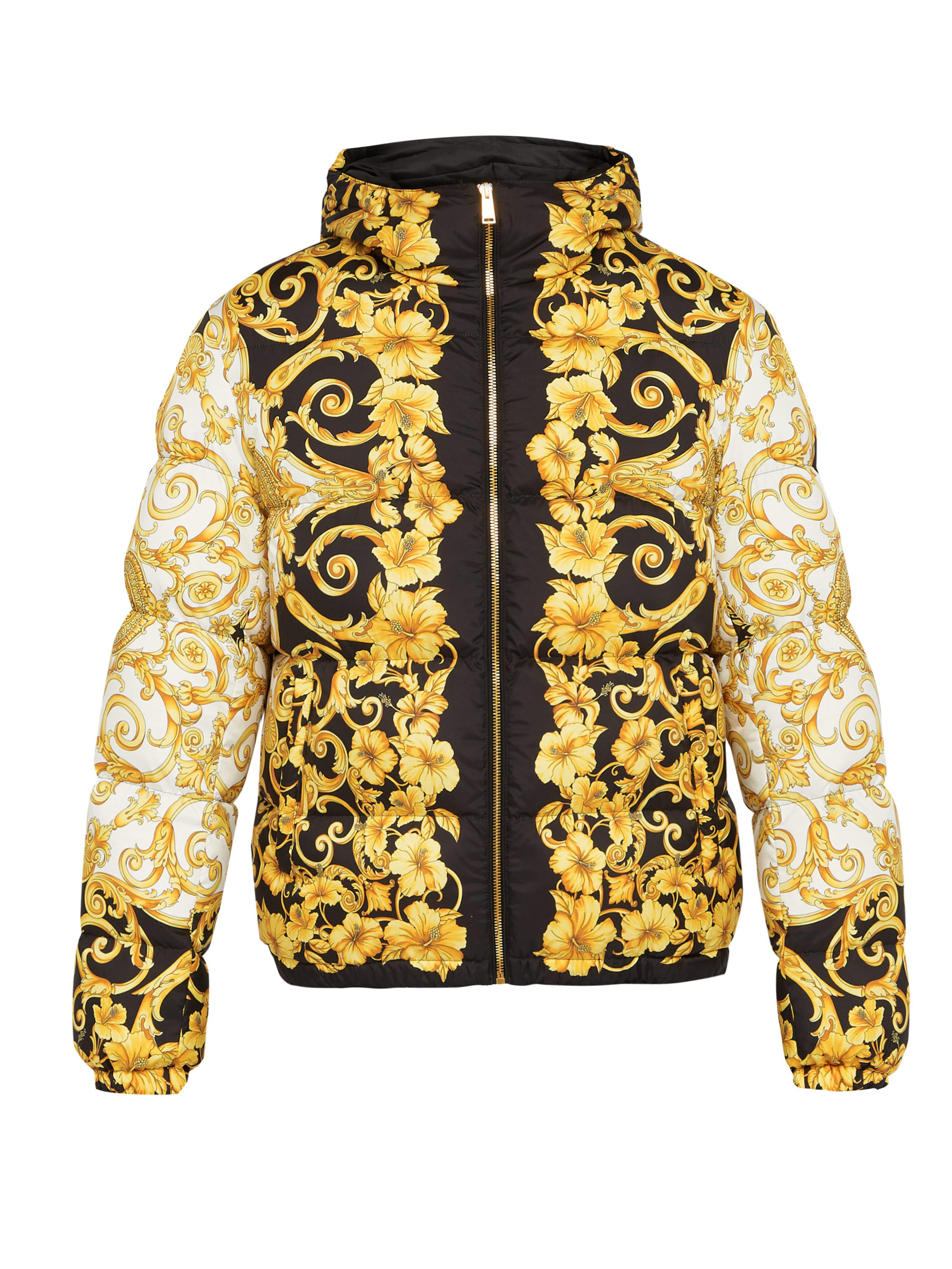 Lyst - Veste à capuche à imprimé baroque Versace pour homme 14590c6509f