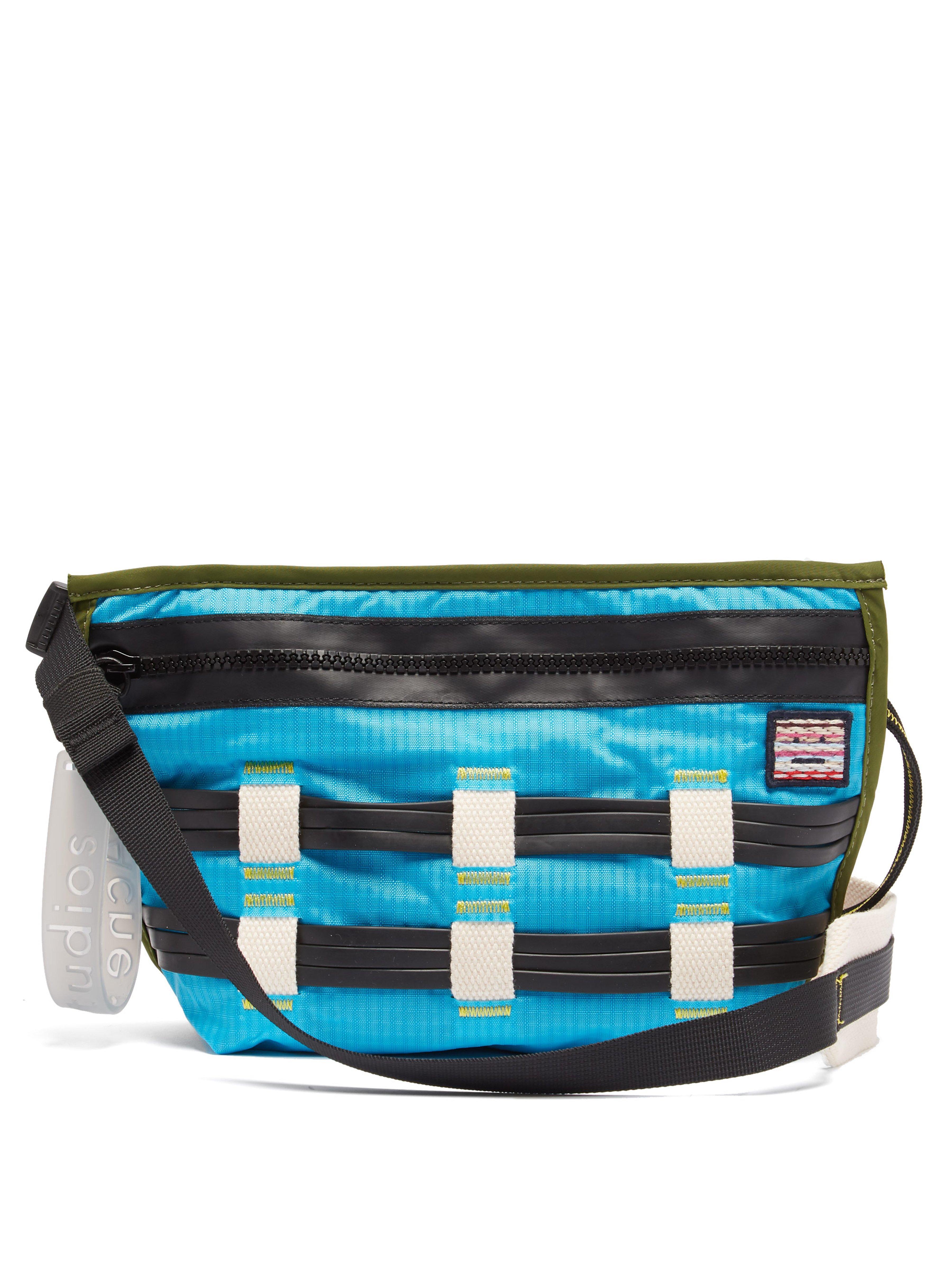 4d3183c07dd3 Acne Studios Rubber Weave Cross Body Bag in Blue for Men - Lyst
