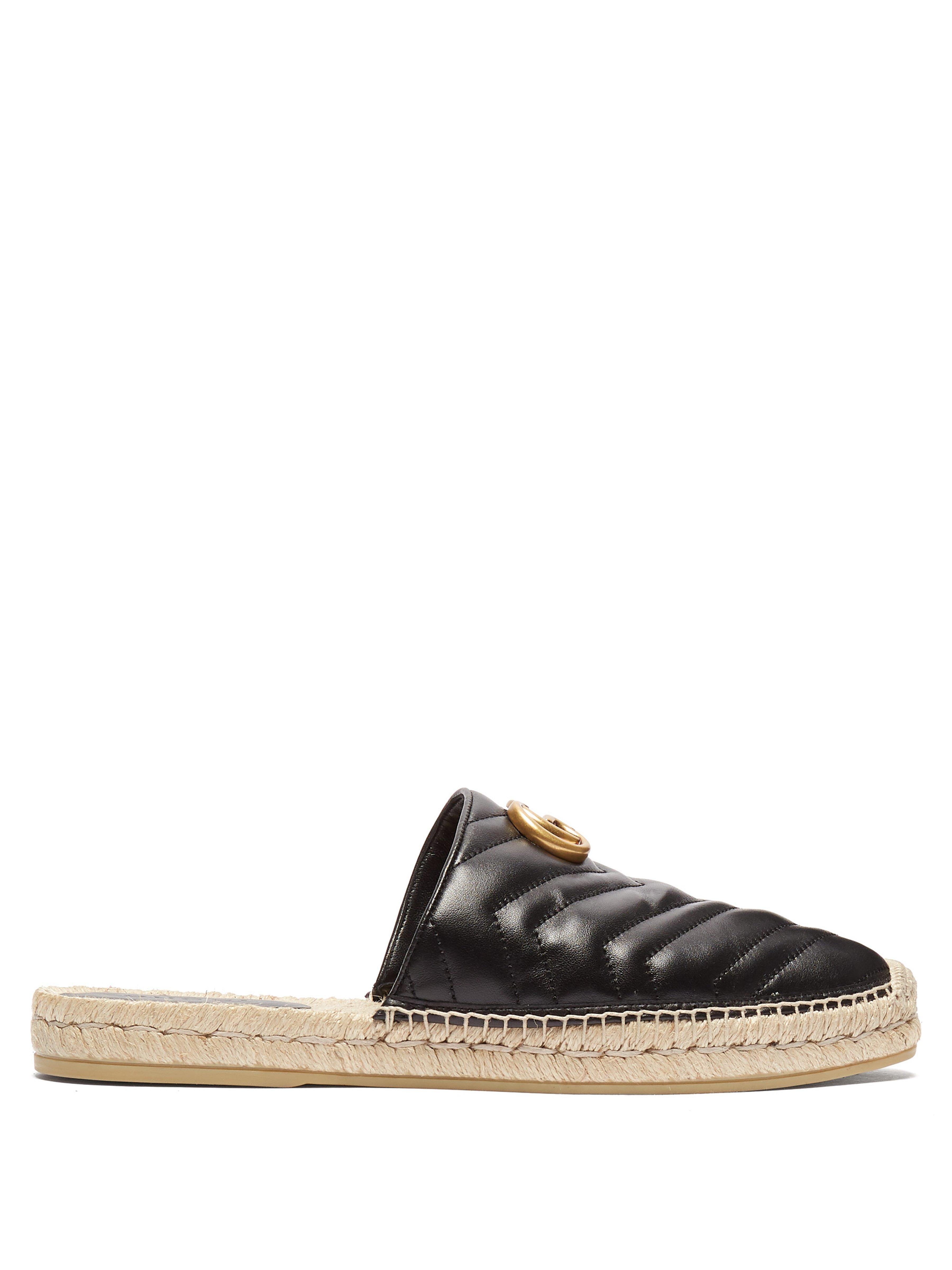 d2e6e830b7d Gucci Marmont Matelassé Leather Espadrilles in Black for Men - Lyst