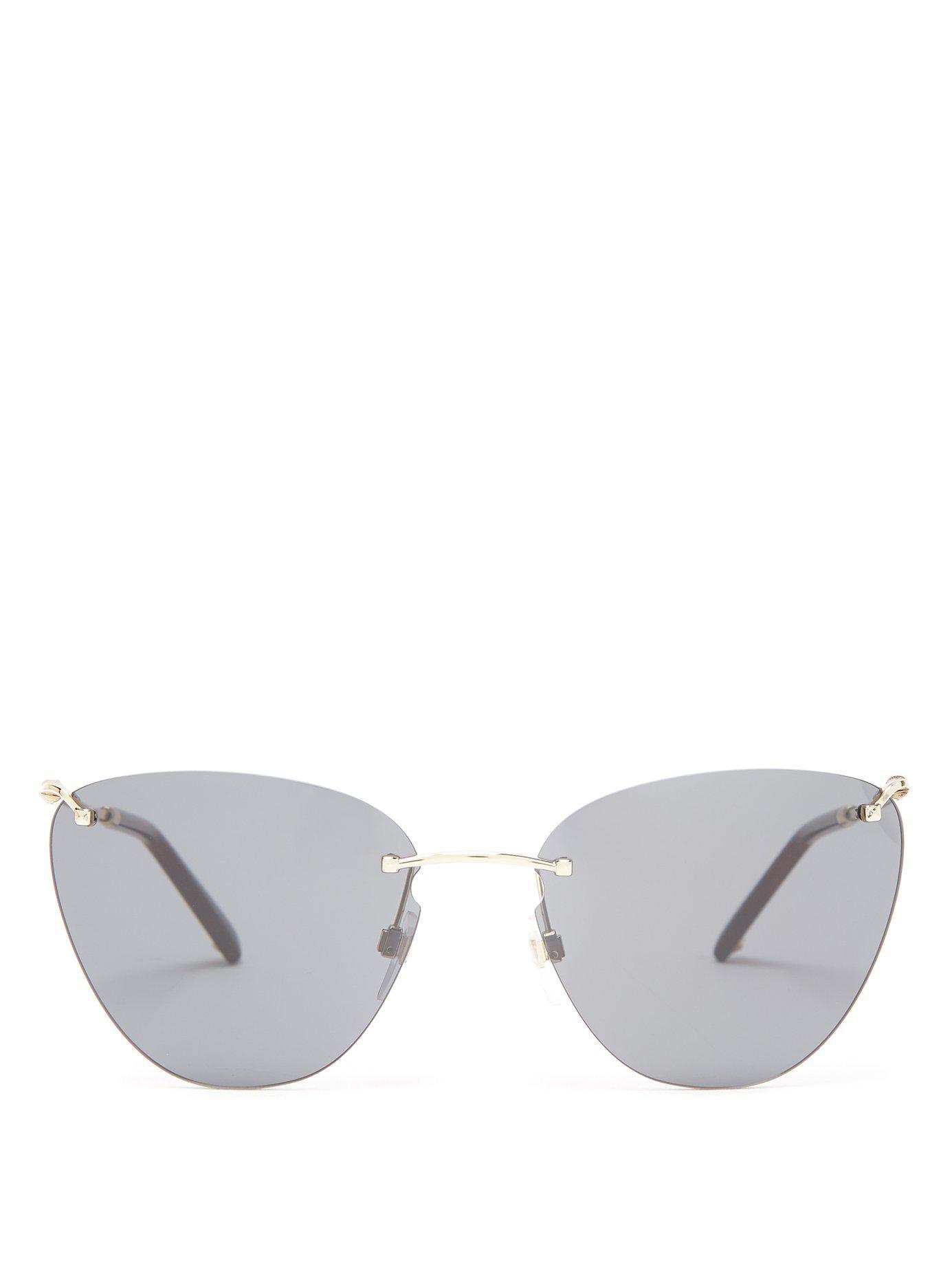 abec98201b01c Valentino Rimless Cat Eye Sunglasses in Black - Lyst