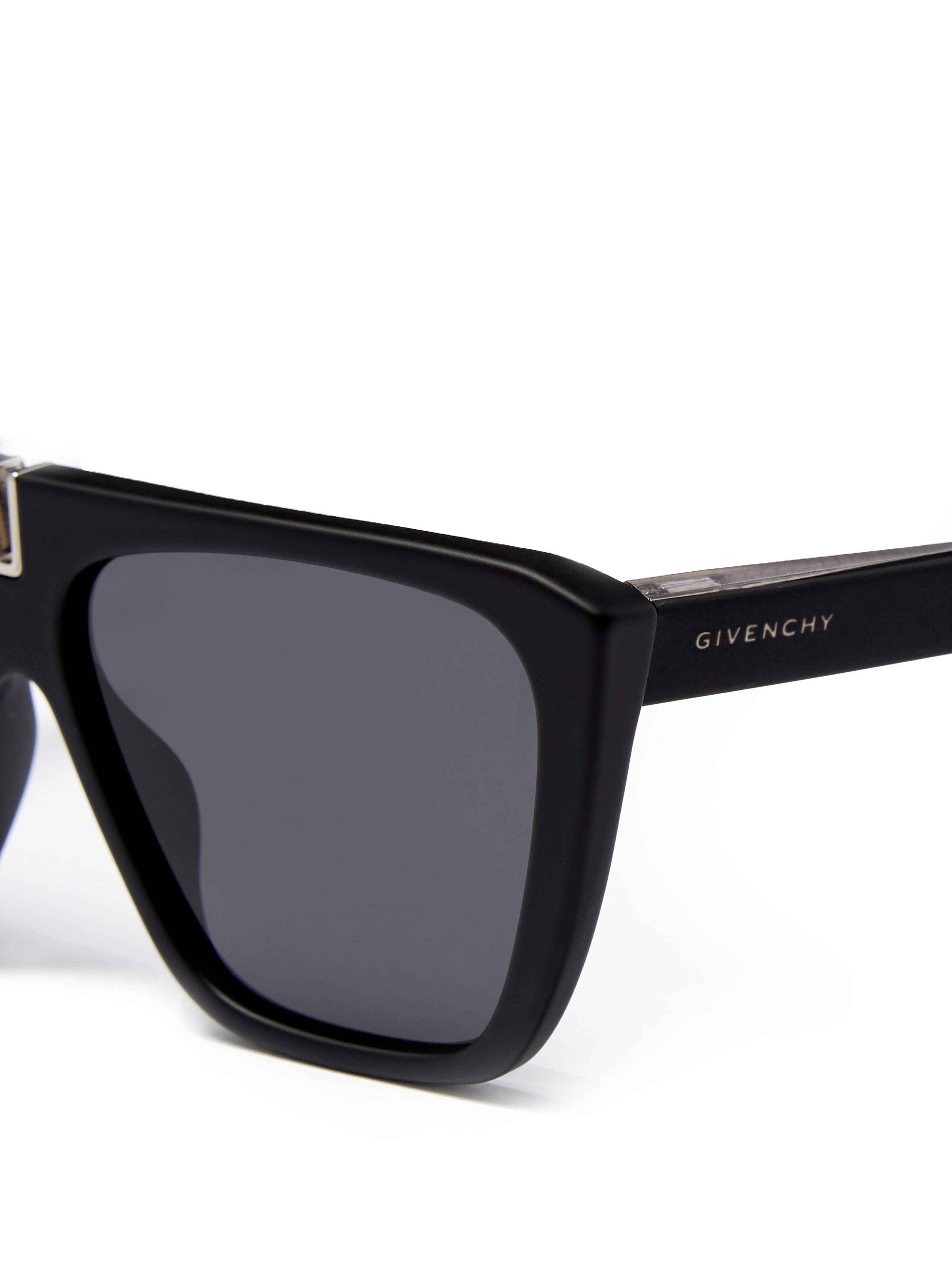 4ed6776dd23383 Givenchy - Black Lunettes de soleil en acétate à monture en D for Men -  Lyst. Afficher en plein écran