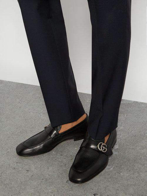fc8091408ff Lyst - Gucci Donnie GG Leather Loafers in Black for Men