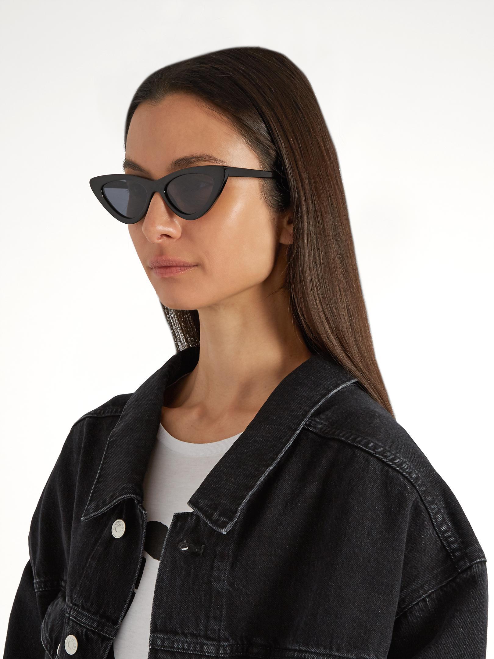ae3371cc4d Lyst - Le Specs The Last Lolita Cat-eye Sunglasses in Black