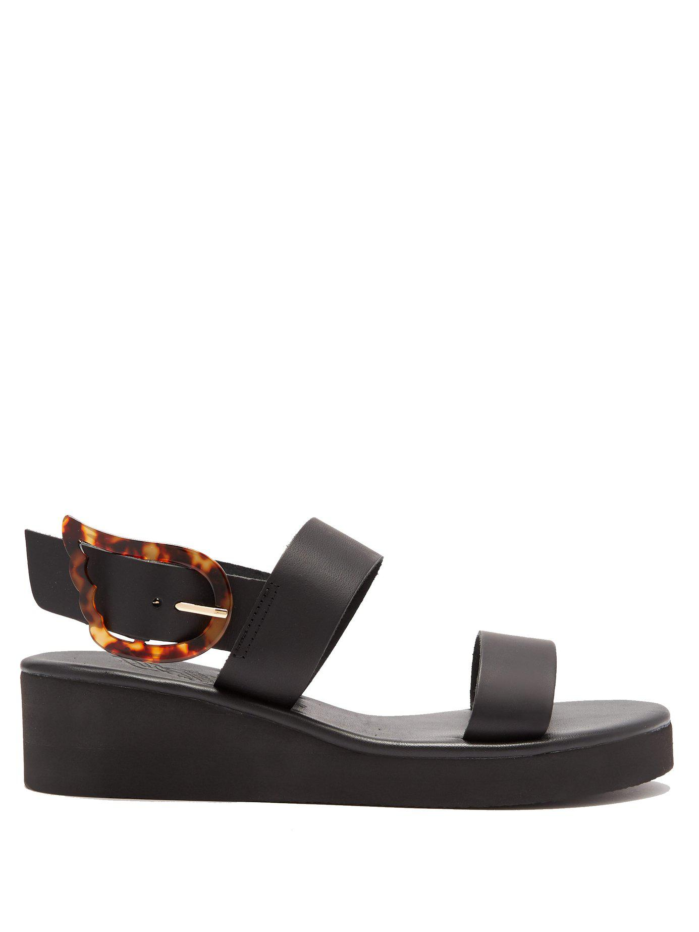 305d667e5087 Lyst - Ancient Greek Sandals Clio Rainbow Leather Wedge Sandals in Black