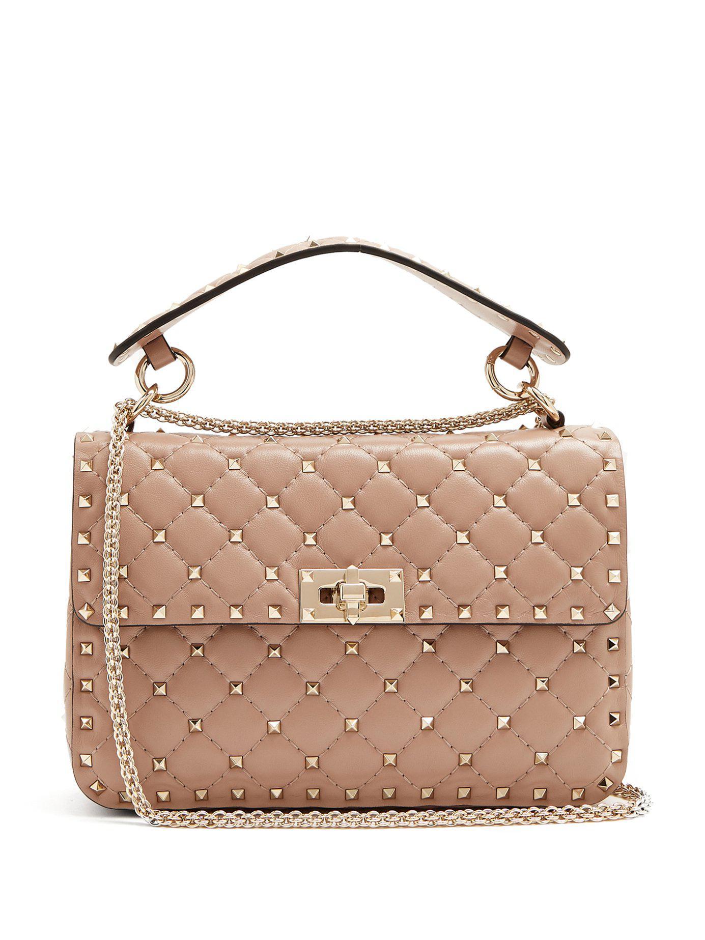 15f25614c171 Valentino. Women s Rockstud Spike Medium Quilted Leather Shoulder Bag