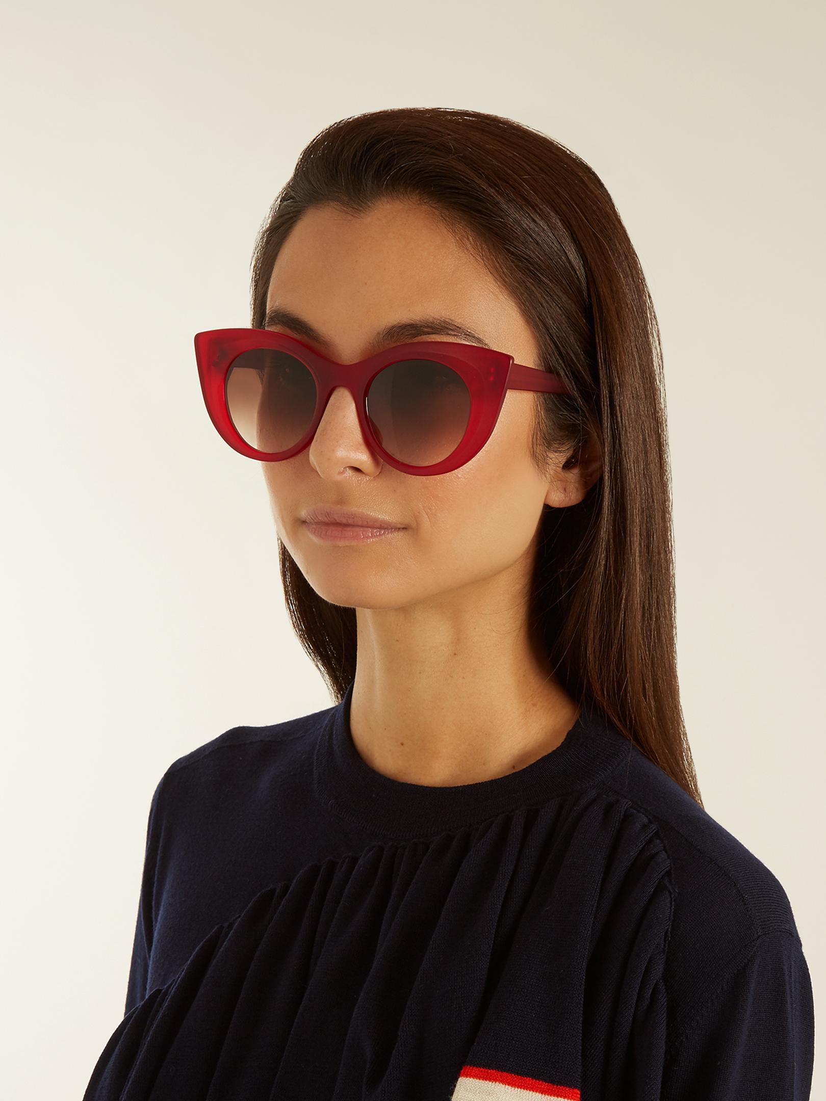 4e3477d302 Lyst - Thierry Lasry Hedony Cat-eye Acetate Sunglasses in Red