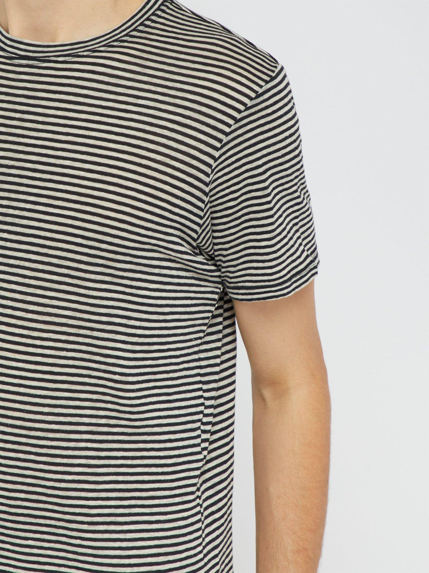 513e1a9a Isabel Marant - Multicolor Leon Striped Linen And Cotton Blend T Shirt for  Men - Lyst. View fullscreen