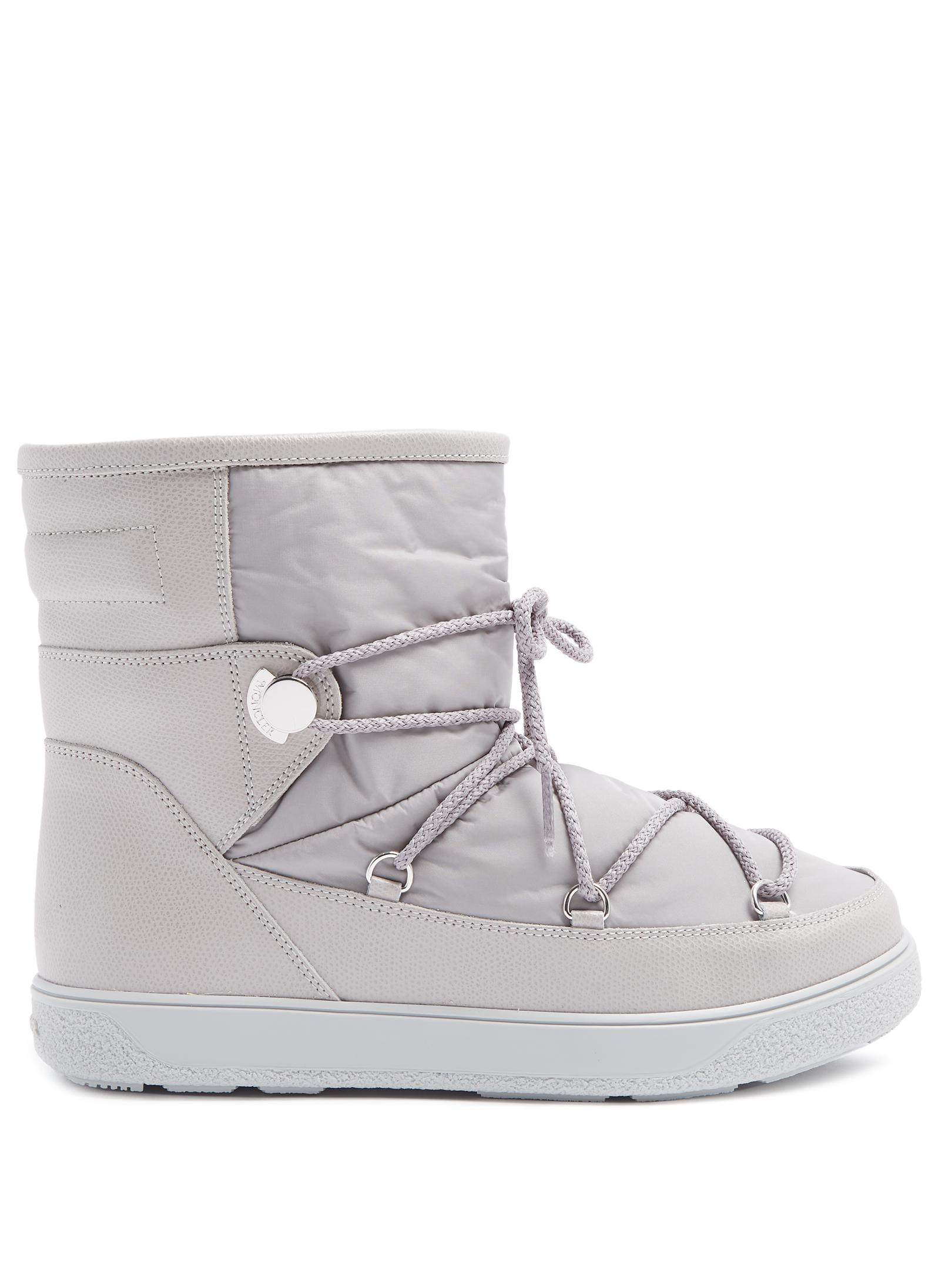 55d64d526 Lyst - Moncler New Fanny Nylon And Leather Aprés-ski Boots in Gray