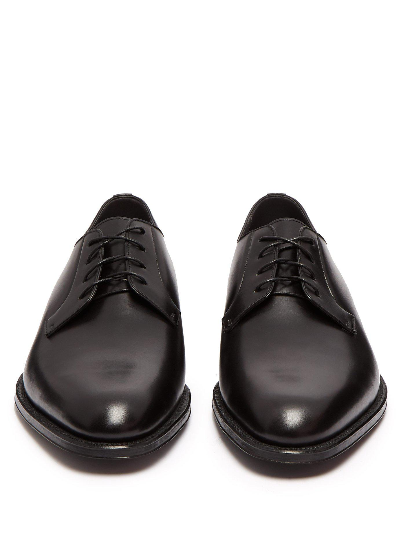 bc6119076a97 Dunhill Duke Leather Derby Shoes in Black for Men - Lyst