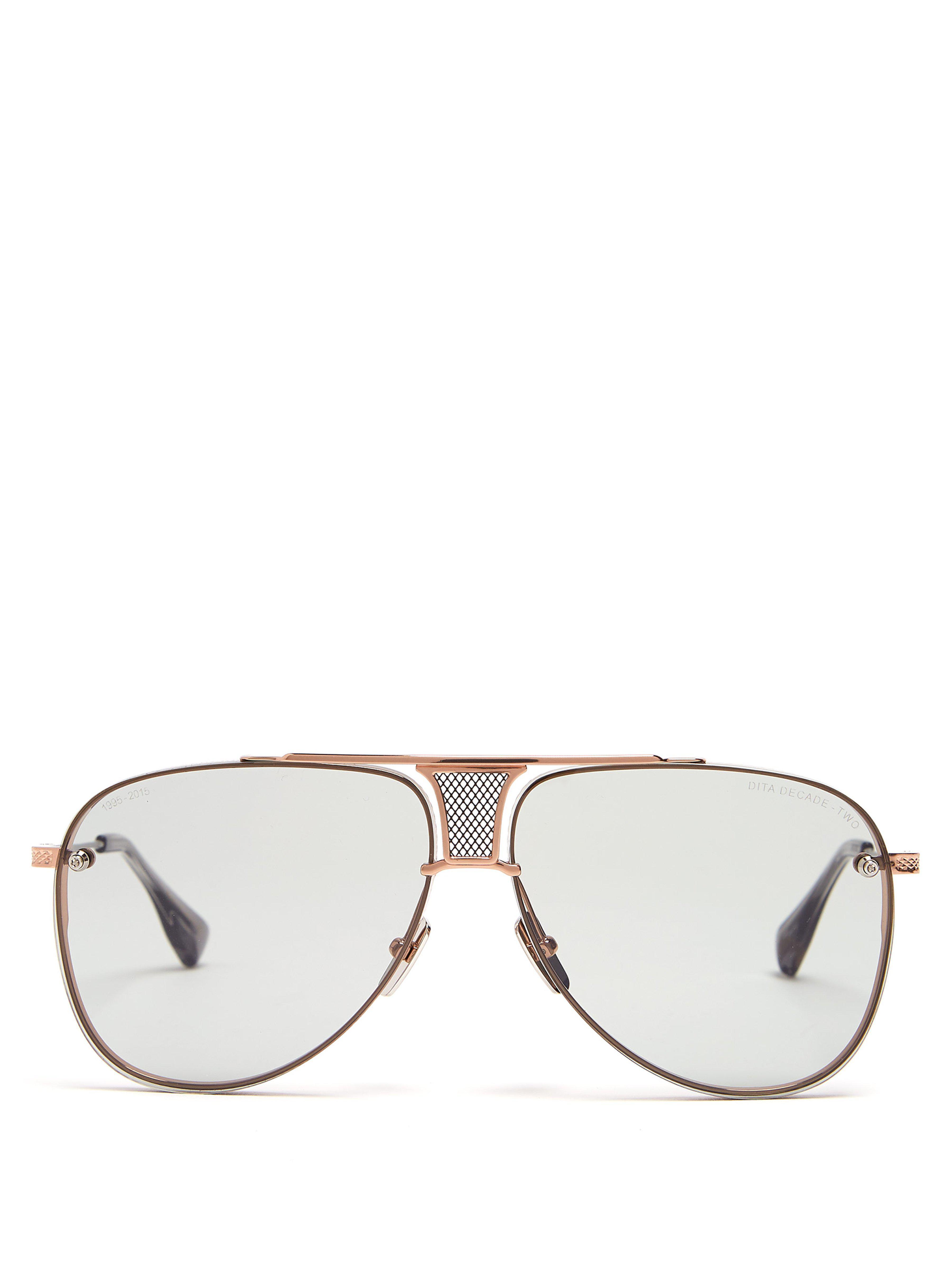 2eb4ad3cdfc2 Dita Eyewear Decade Two Aviator Sunglasses in Metallic for Men - Lyst