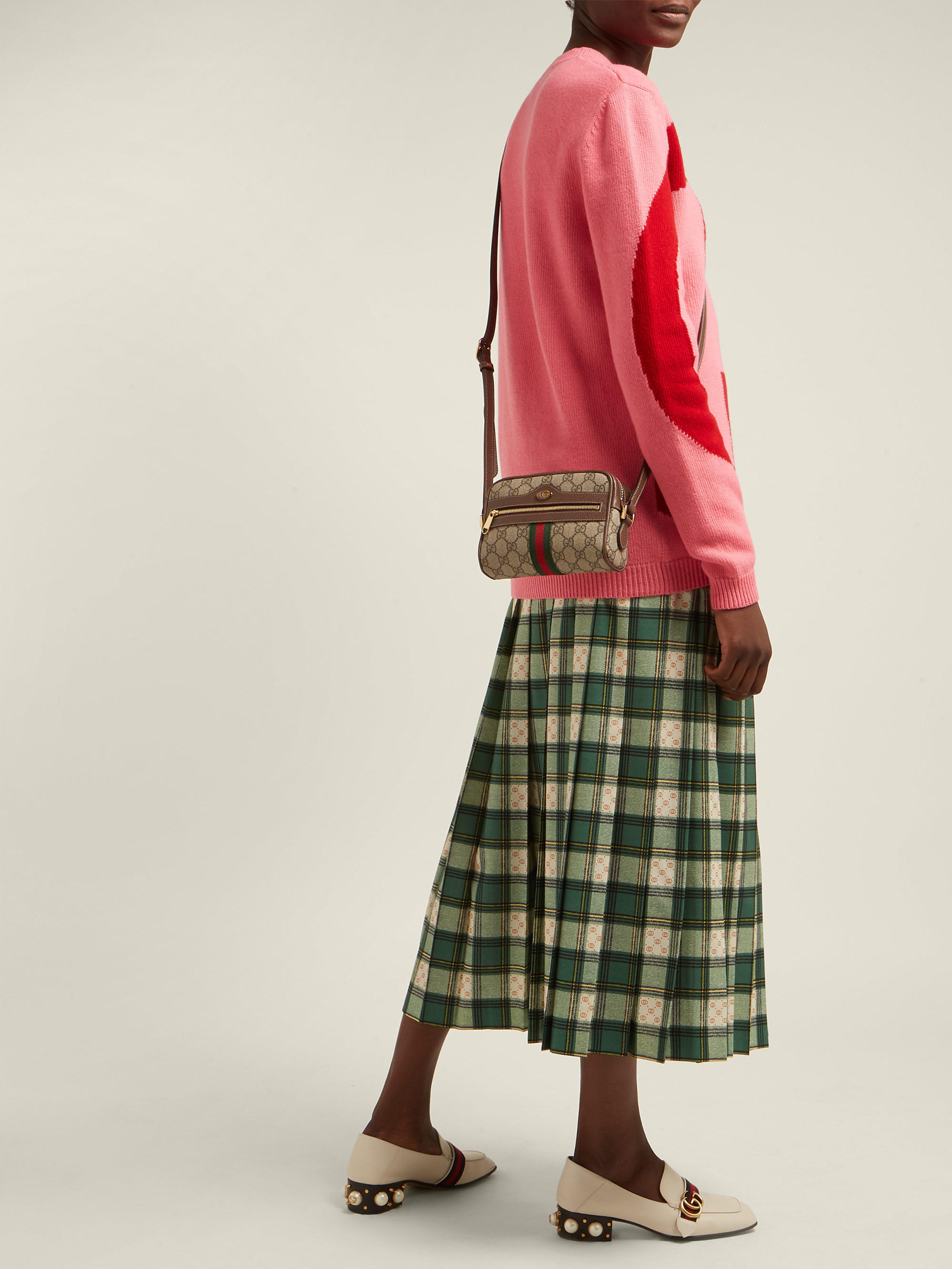 822c5f4569f0 Gucci Ophidia Gg Supreme Cross Body Mini Bag in Gray - Lyst