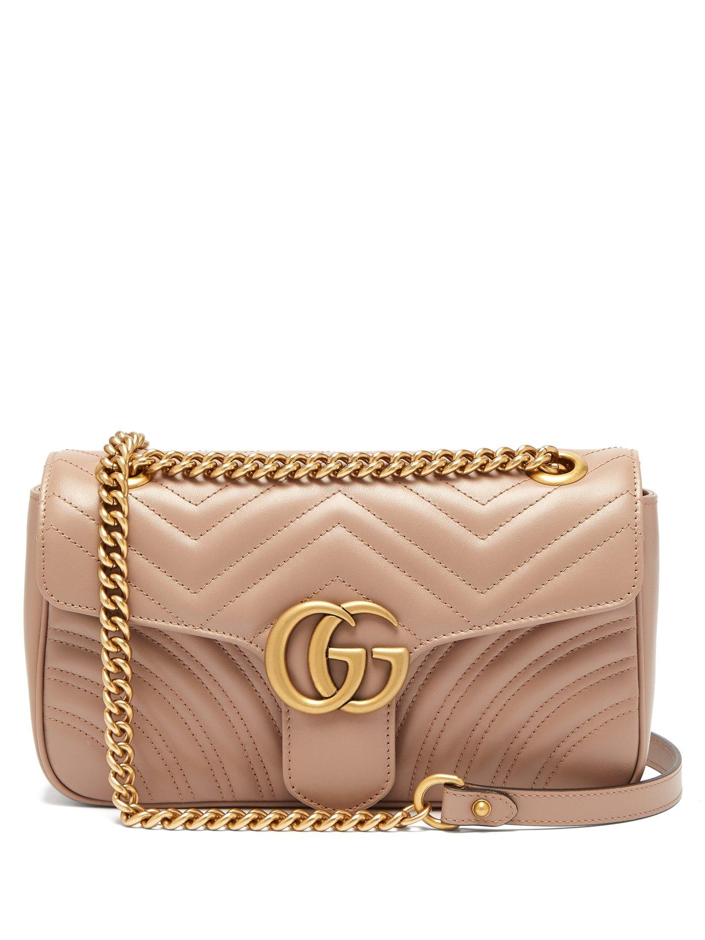 1817fd0b116 Gucci. Women s Gg Marmont Small Quilted Leather Shoulder Bag