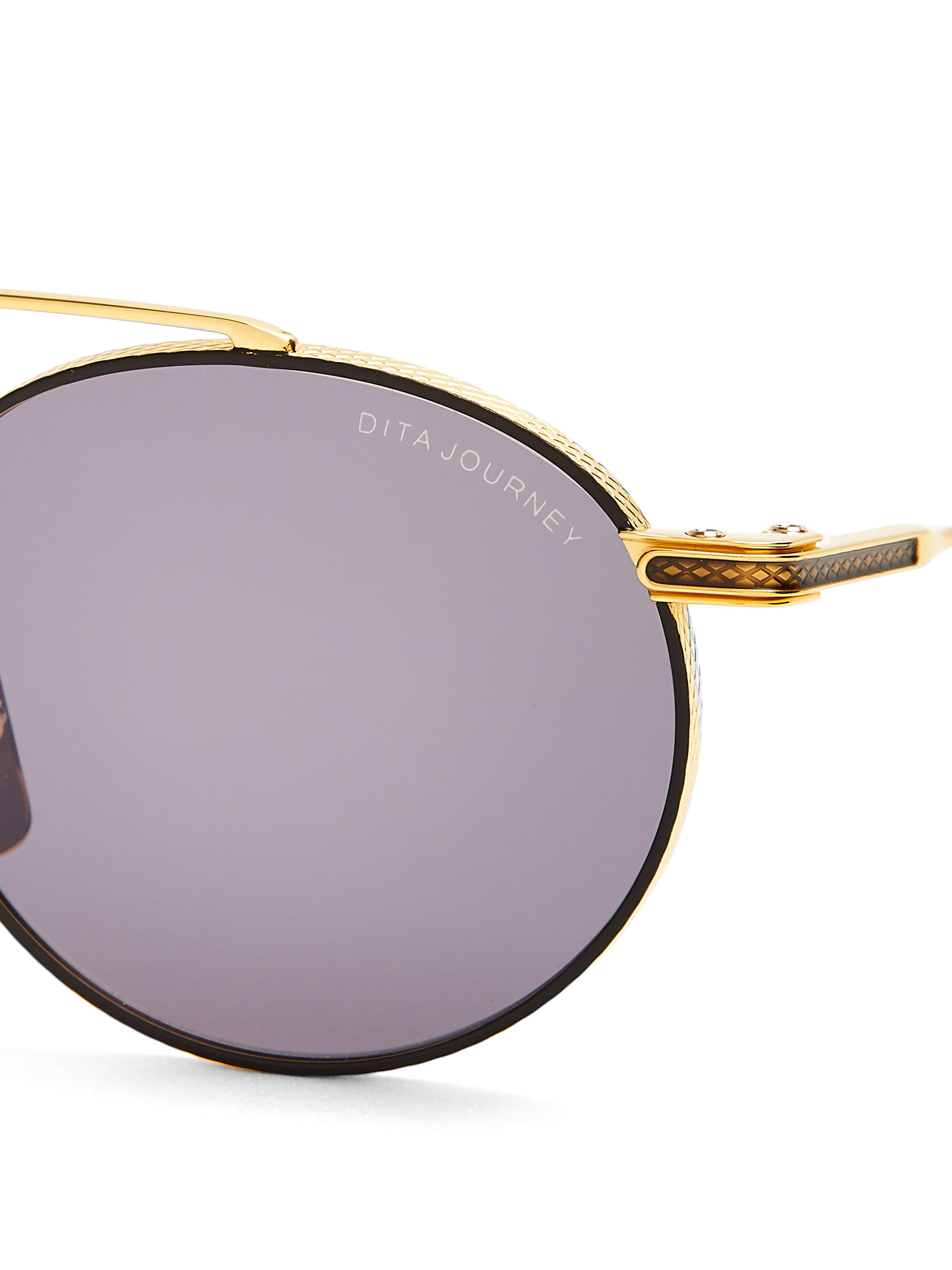 f998c96a771 Dita Eyewear Journey Round-frame Metal Sunglasses in Black for Men ...