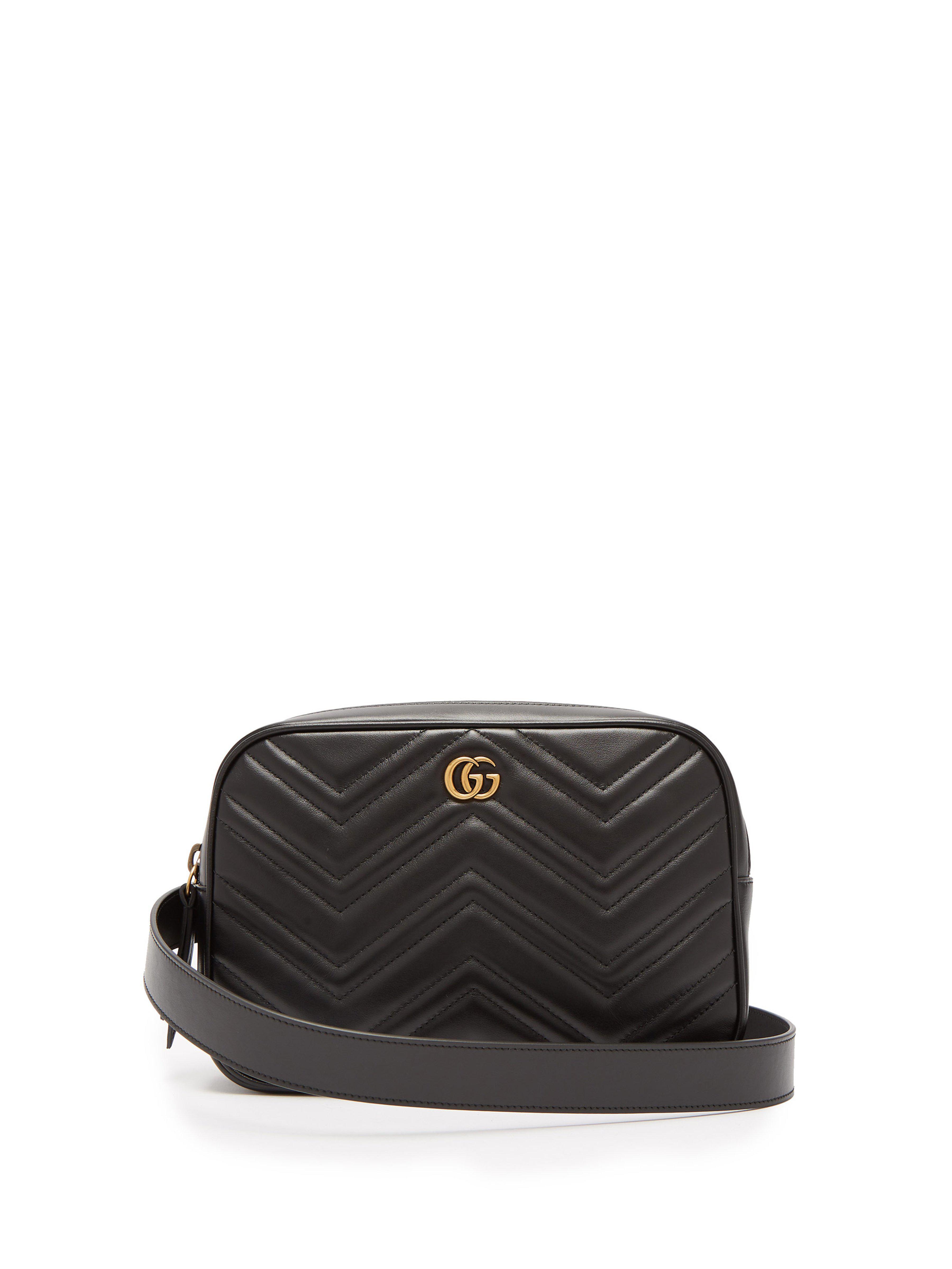 Lyst - Sac ceinture en cuir matelassé GG Marmont Gucci pour homme en ... b89d889091b