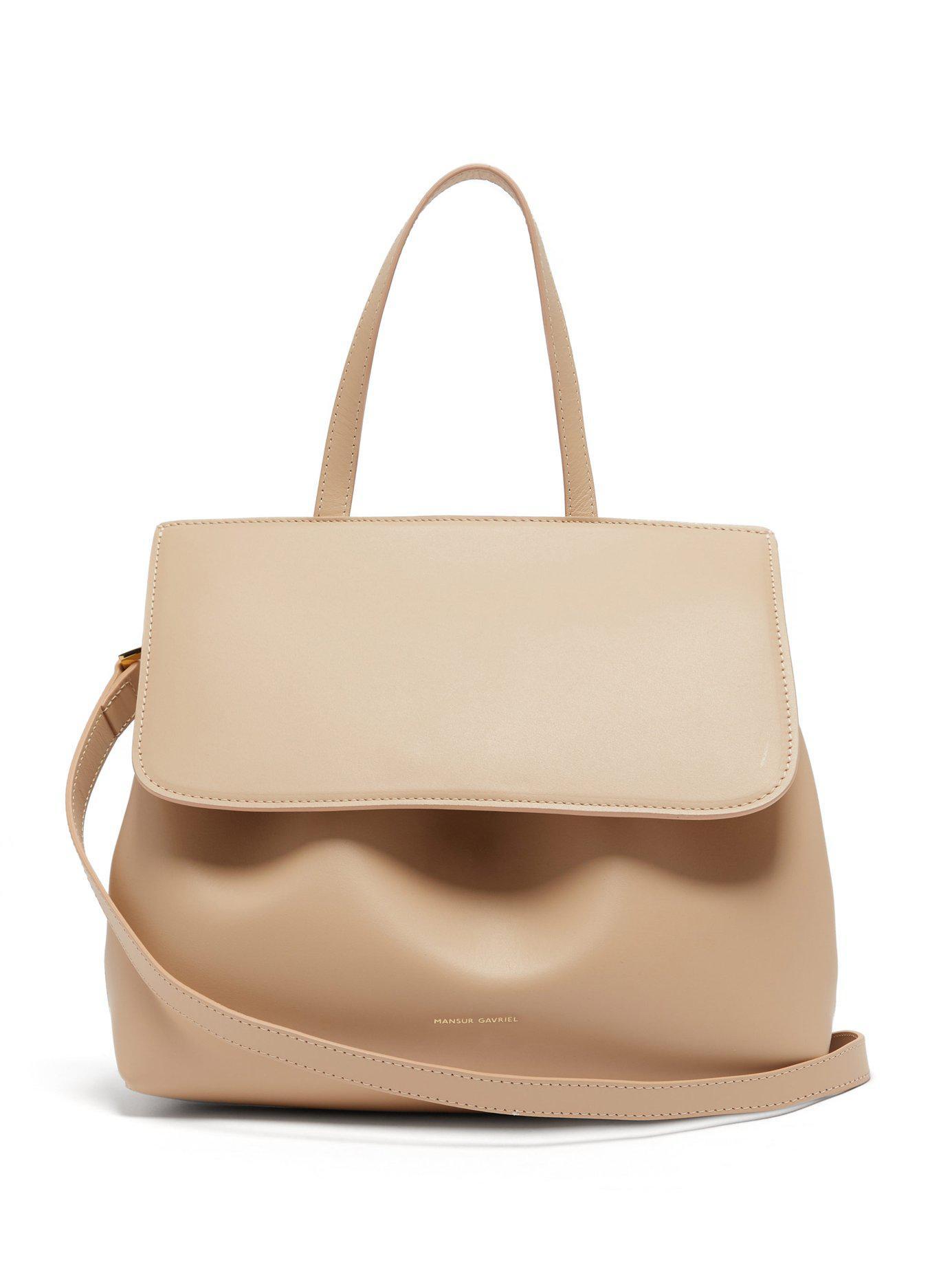 14eb7e833639 Mansur Gavriel - Natural Mini Lady Leather Cross Body Bag - Lyst. View  fullscreen