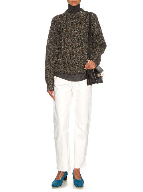 136c572ad74 Étoile Isabel Marant Happy Ribbed-knit Sweater in Black - Lyst