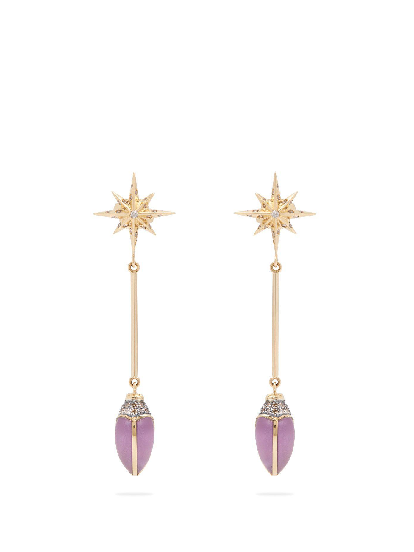 Scarab Star earrings Bibi van der Velden ufqIF9Av