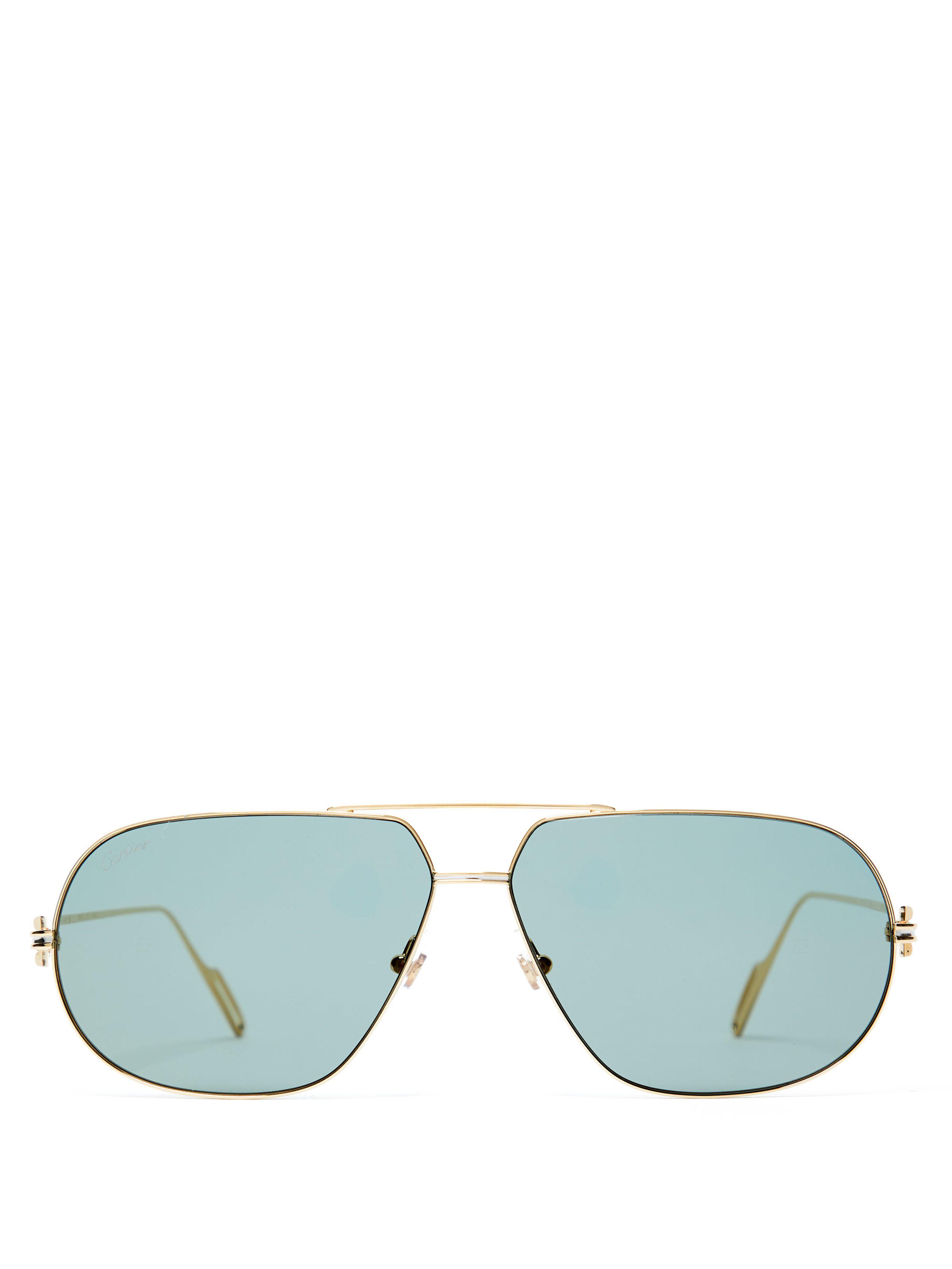 96f25073d76 Cartier Première De Cartier Aviator Frame Sunglasses in Metallic for ...