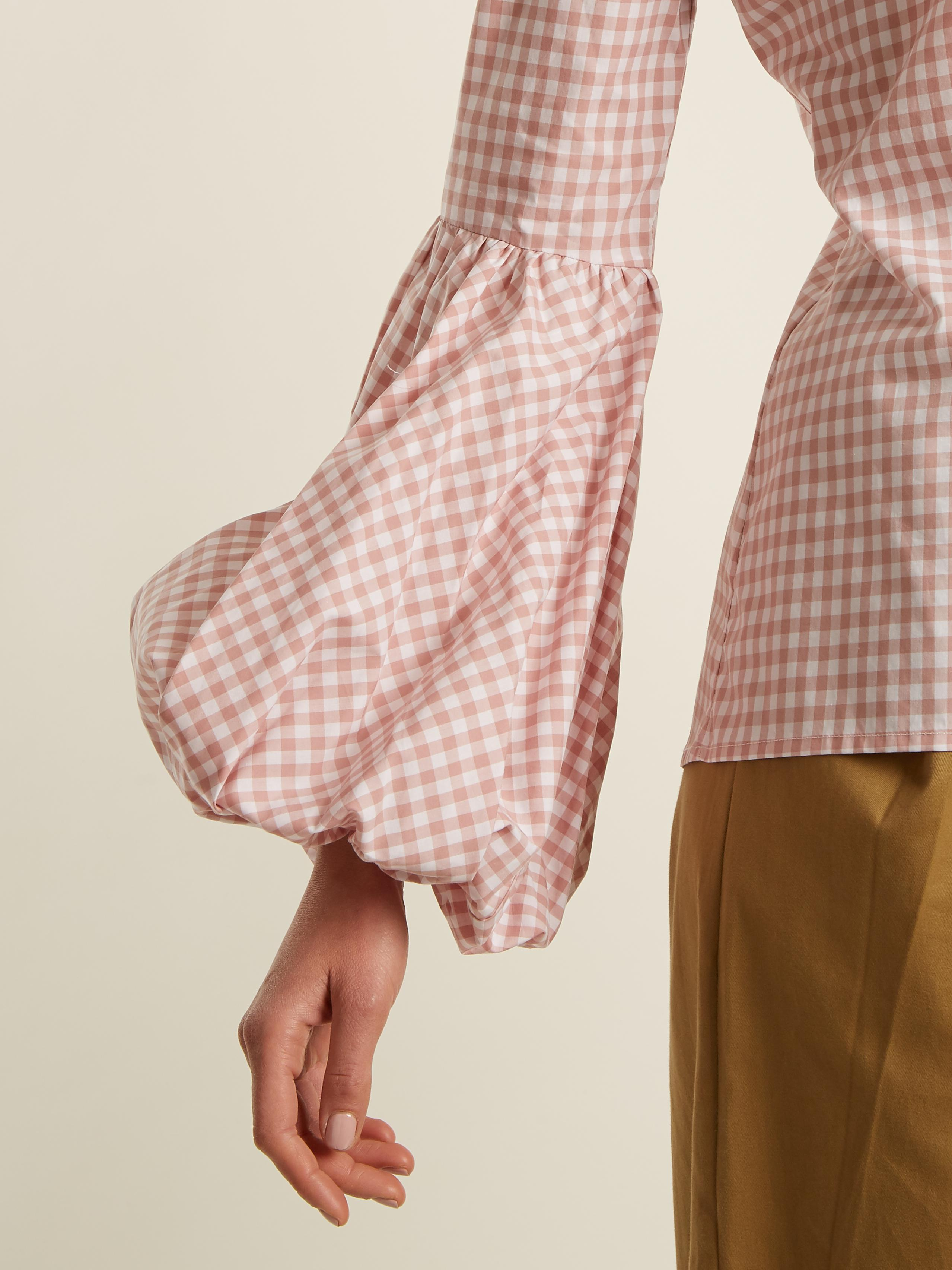 Jaqueline gingham-checked cotton shirt Caroline Constas Very Cheap Clearance Online Official Site Official Site Cheap Online Ebay Cheap Online Shop For xoGxZ