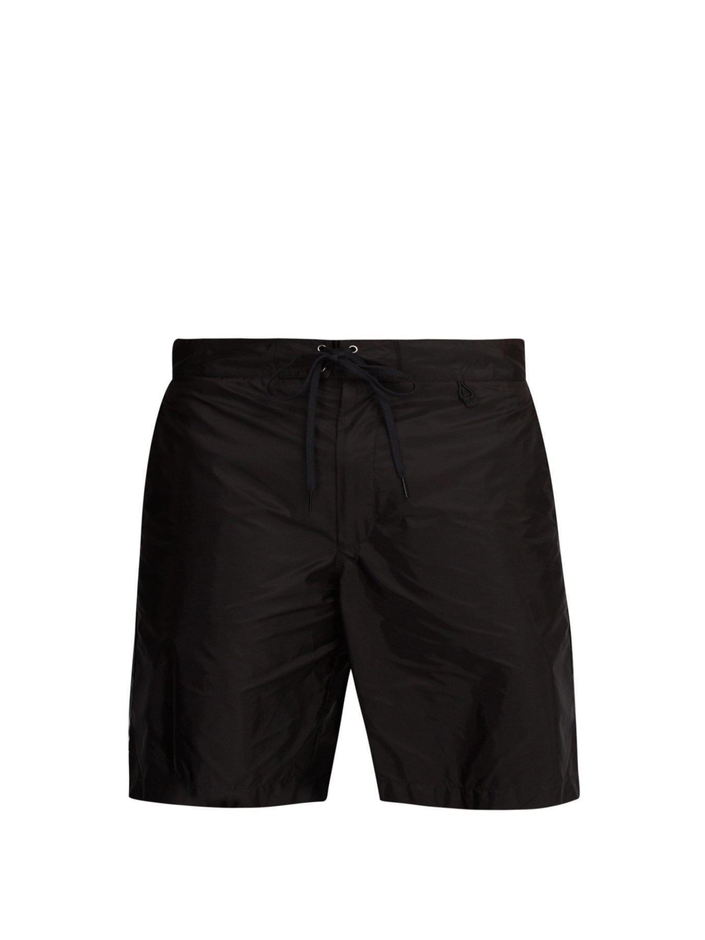 439ae39748 Lyst - Prada Nylon Board Shorts in Black for Men