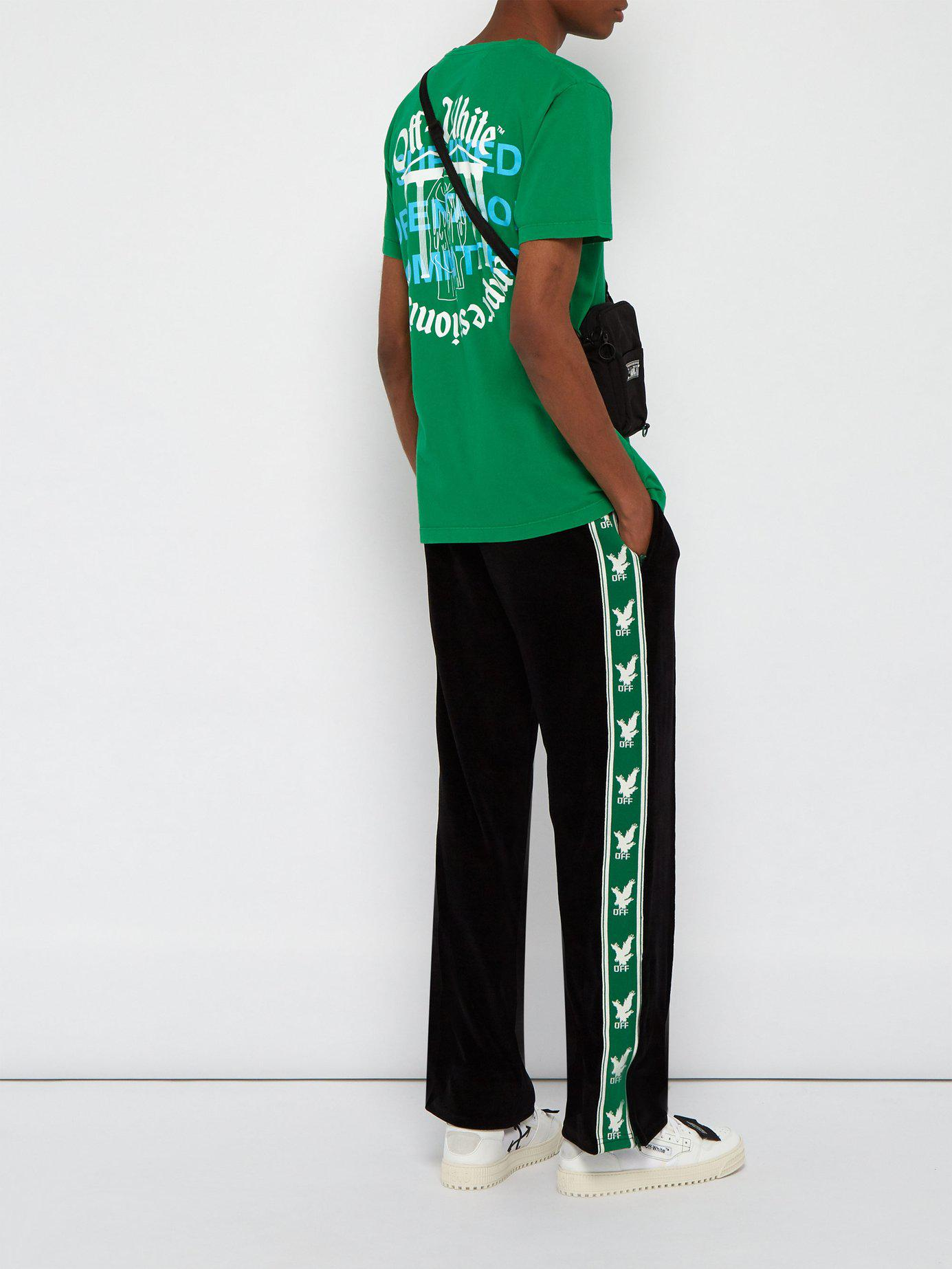 c3765a18e81b Lyst - Off-White c o Virgil Abloh  college  T-shirt in Green for Men - Save  35%