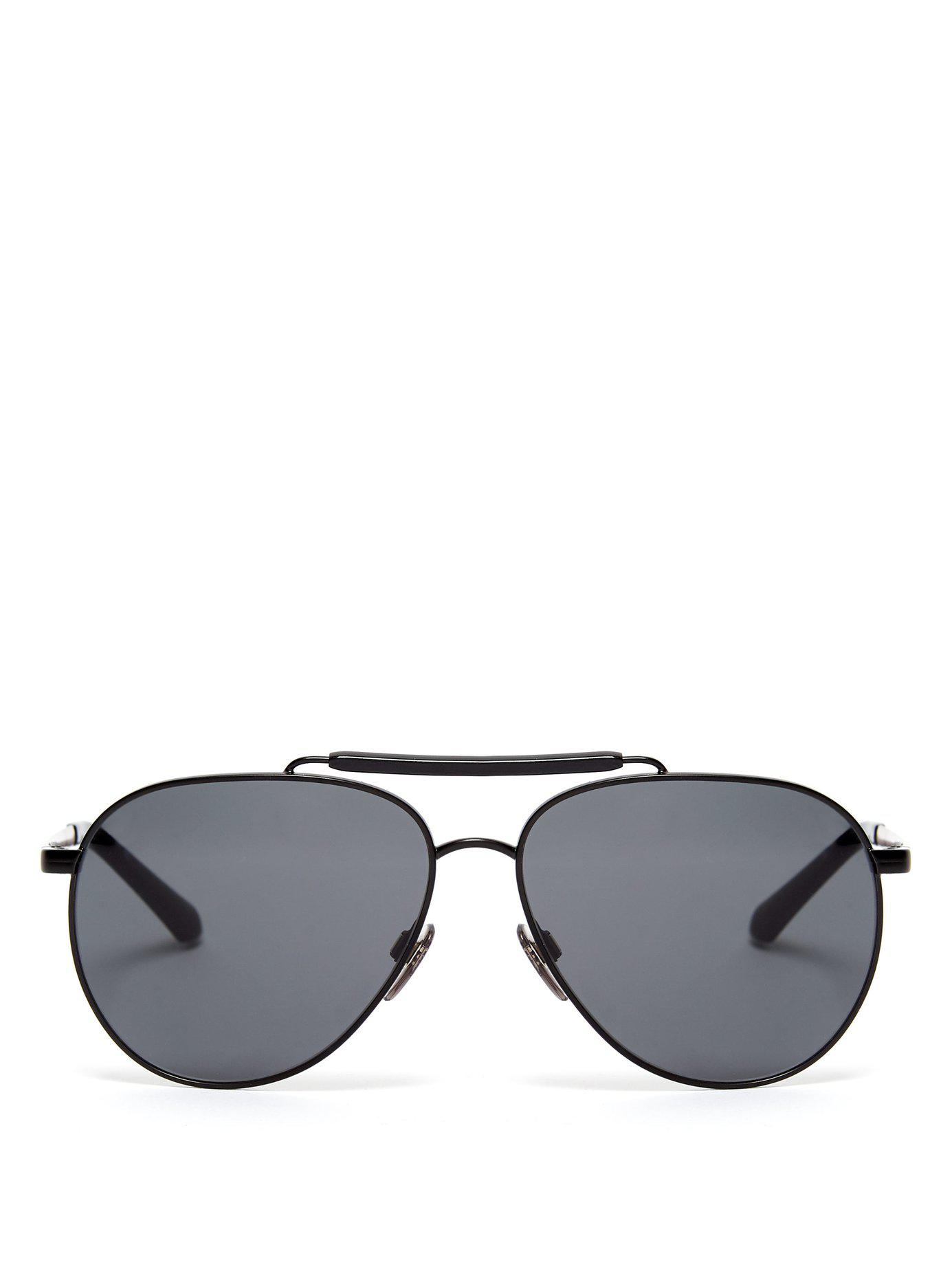 59aabdf4de82 Lyst - Burberry Milton Aviator Sunglasses in Black for Men