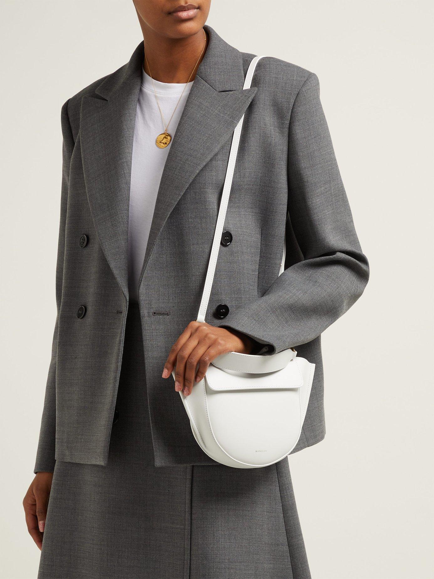 Wandler - White Hortensia Medium Leather Shoulder Bag - Lyst. View  fullscreen e951b7784e