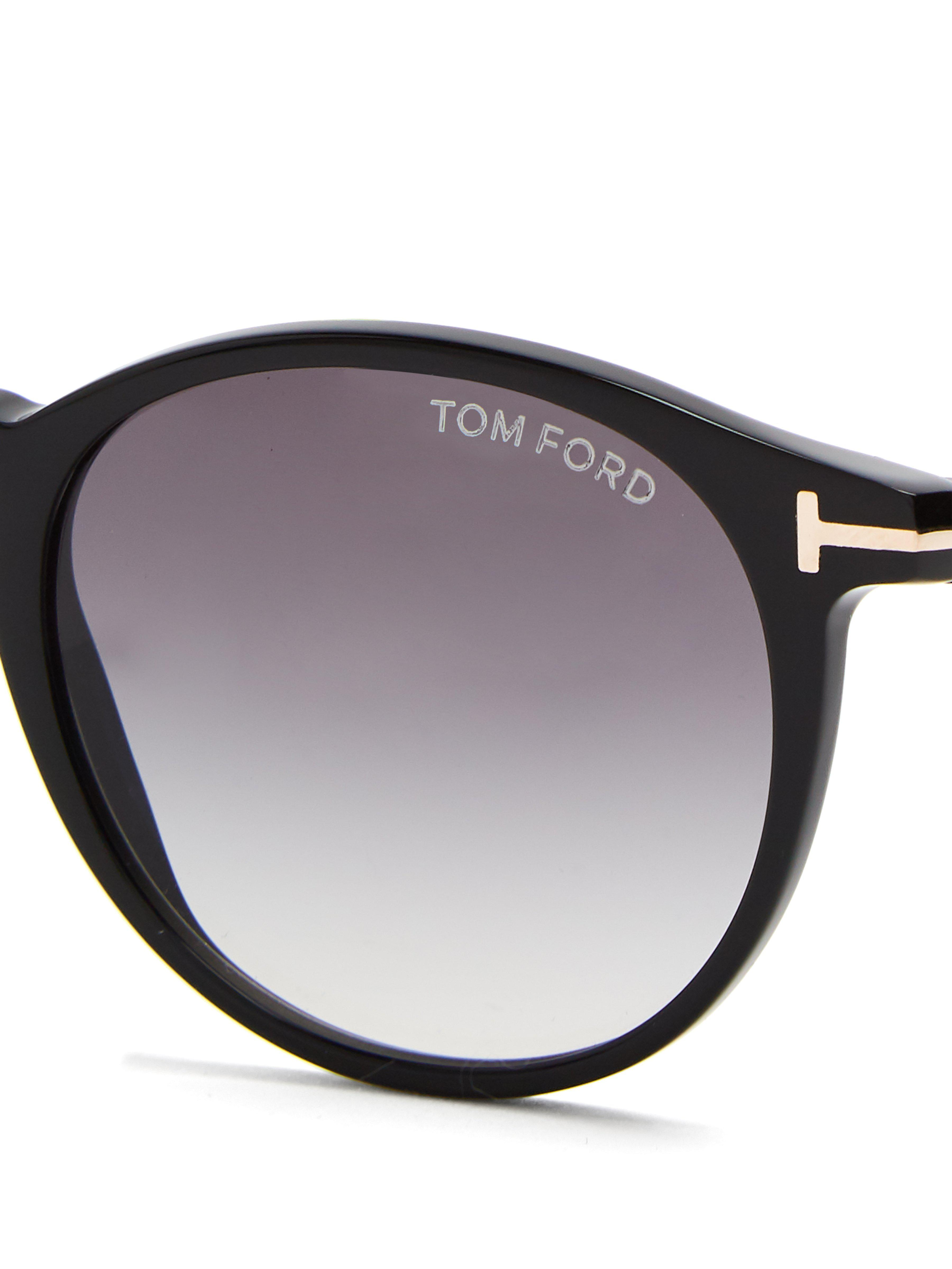 b1a5e5d2a89 Tom Ford - Black Eric Round Frame Sunglasses for Men - Lyst. View fullscreen