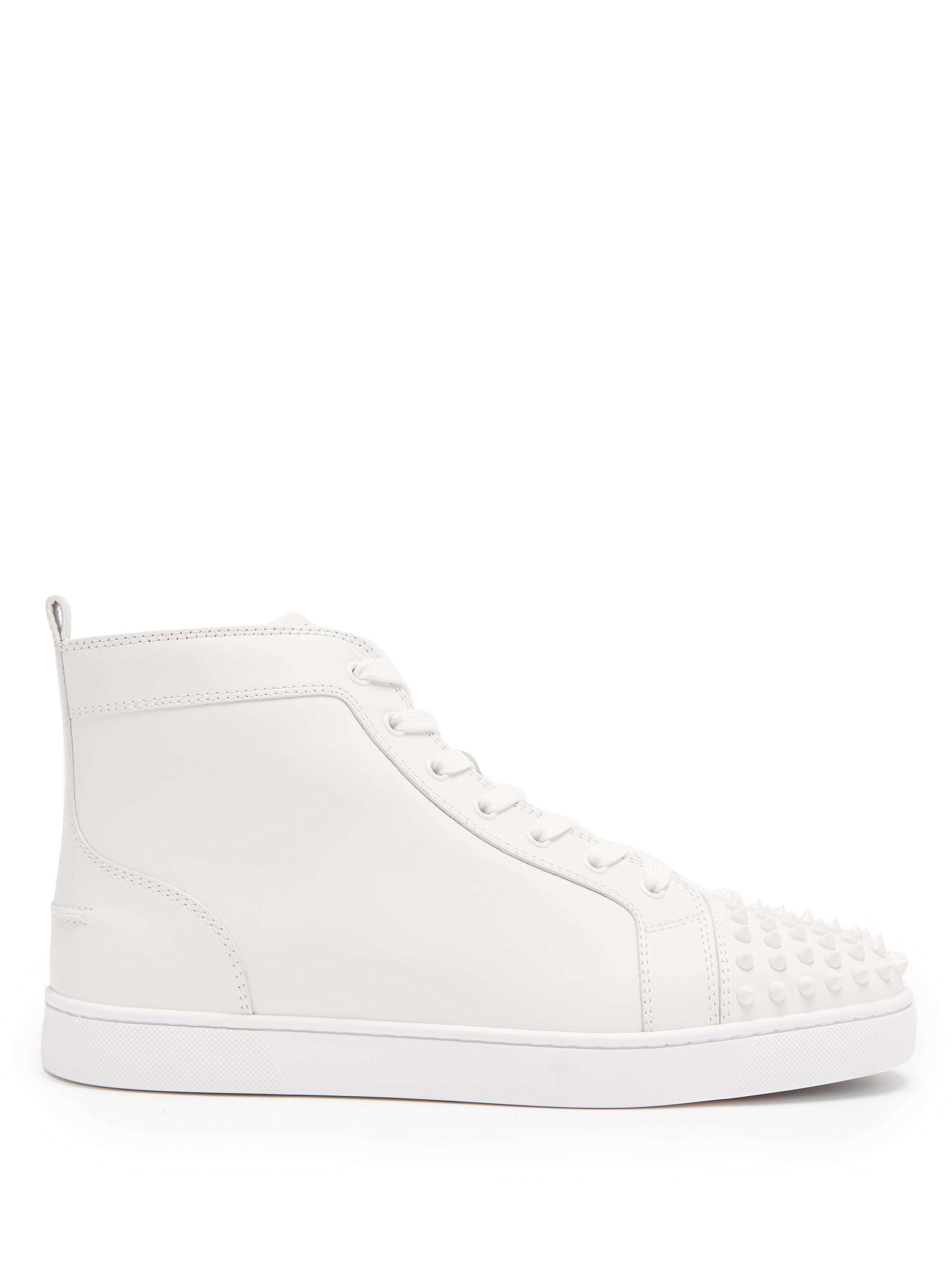 ab2b68f502c Christian Louboutin Rankick Flat Leather Sneakers in White for Men ...