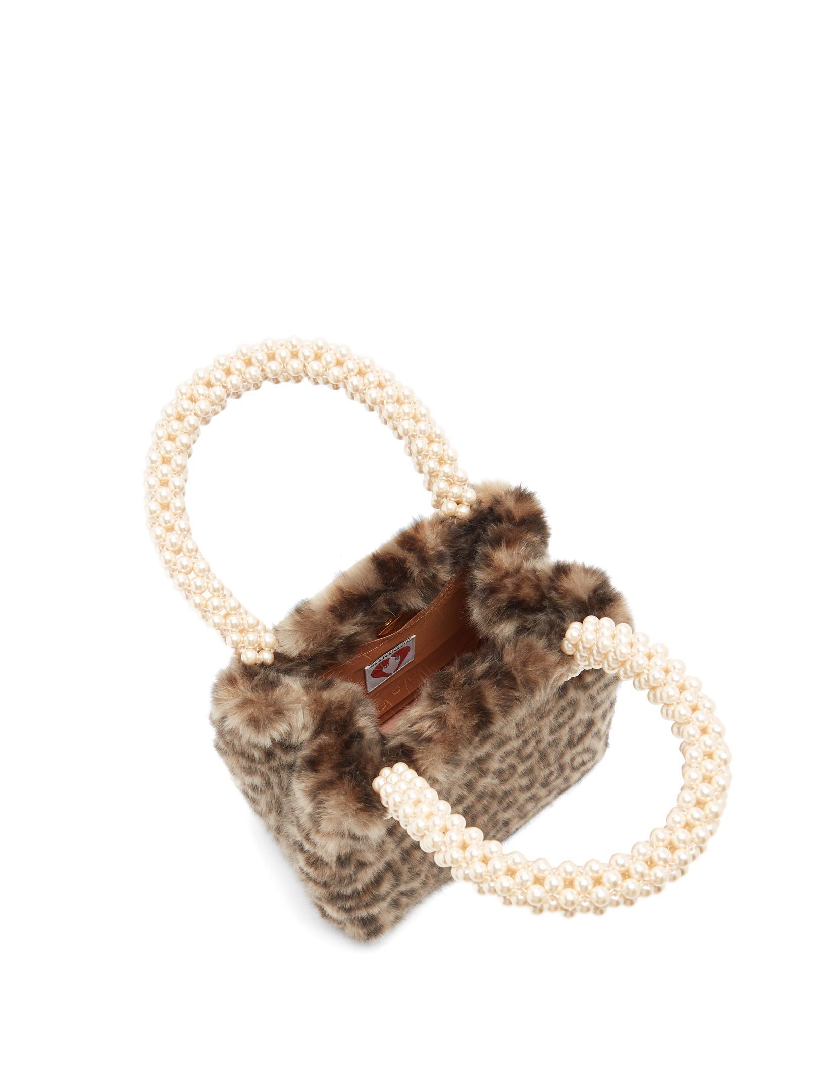 3d176992fd Lyst - Shrimps Una Leopard-print Faux-fur Bag