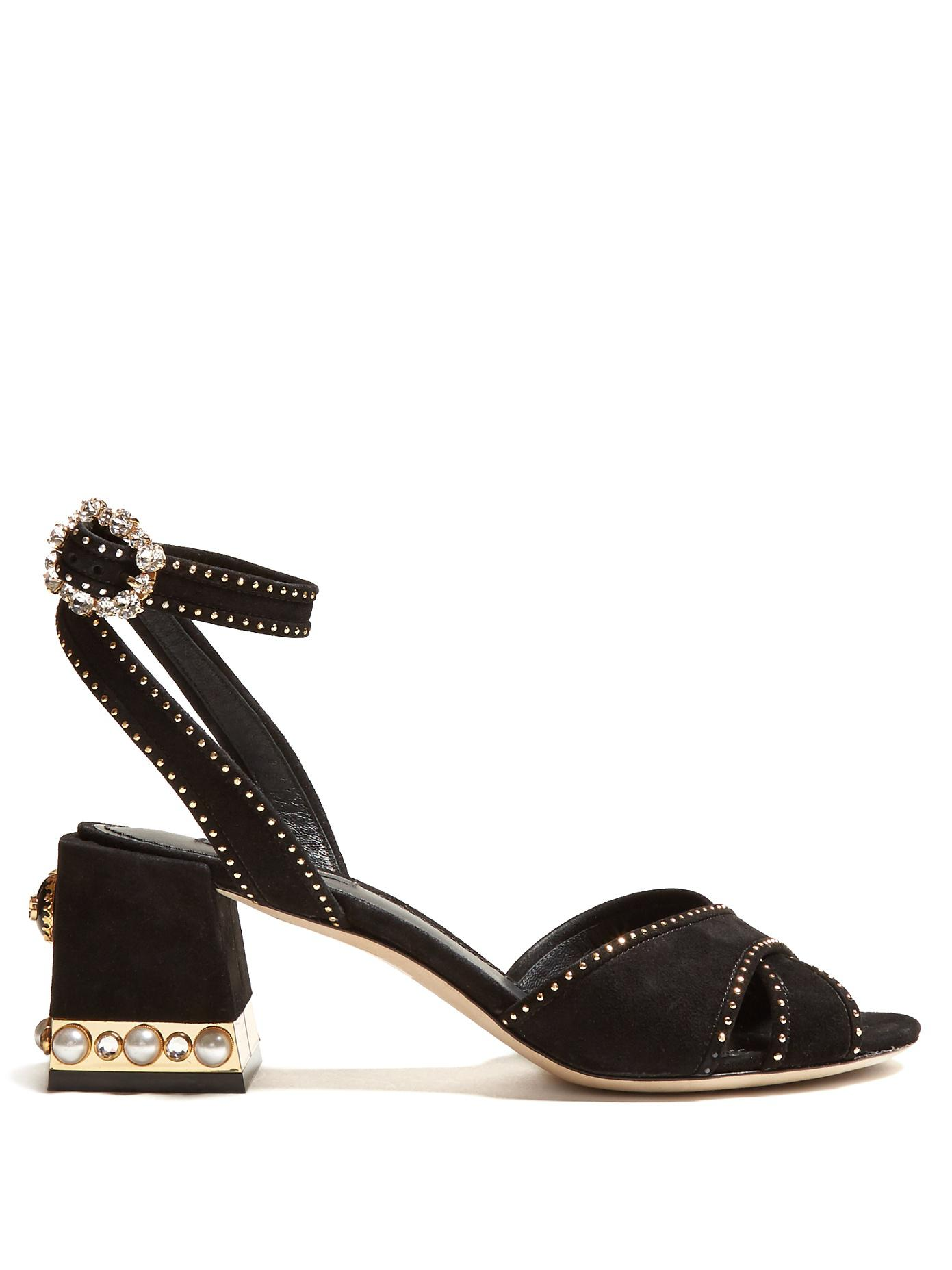 Dolce & Gabbana Embroidered Suede Sandals fdfzOxvJQ