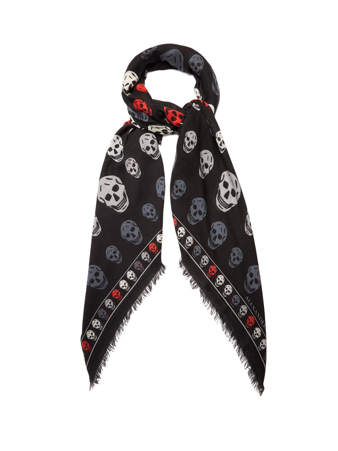 skull intarsia scarf - Black Alexander McQueen PoU8kPU