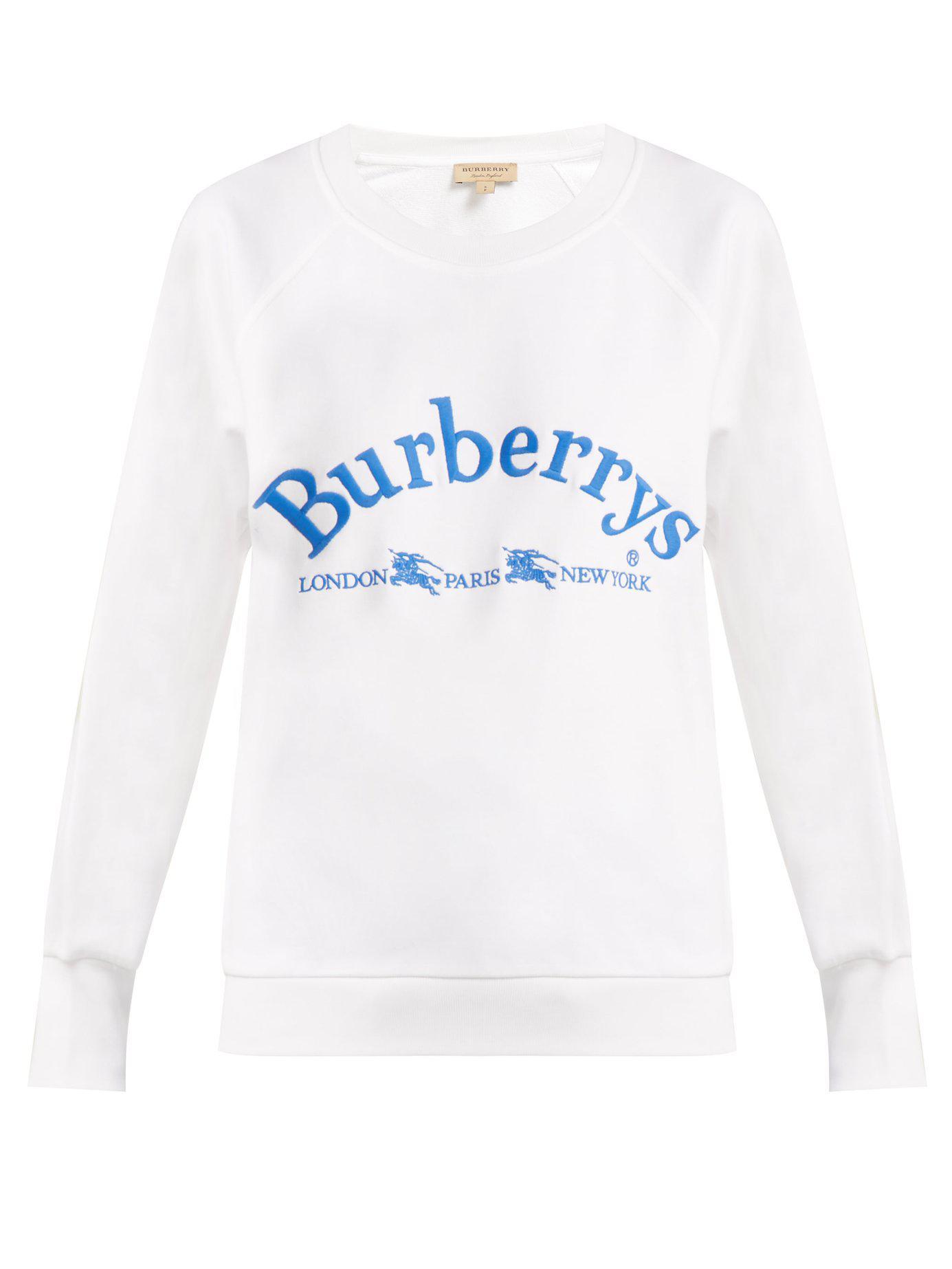 ed804c4c82d6c Archive Coton Broderie Shirt En Sweat Burberry Lyst Logo À 6w0xtpqX
