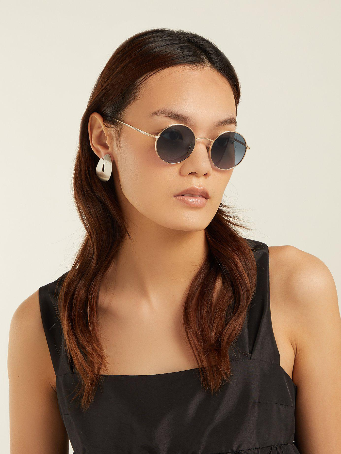 80b74011790 Lyst - The Row X Oliver Peoples After Midnight Sunglasses in Blue