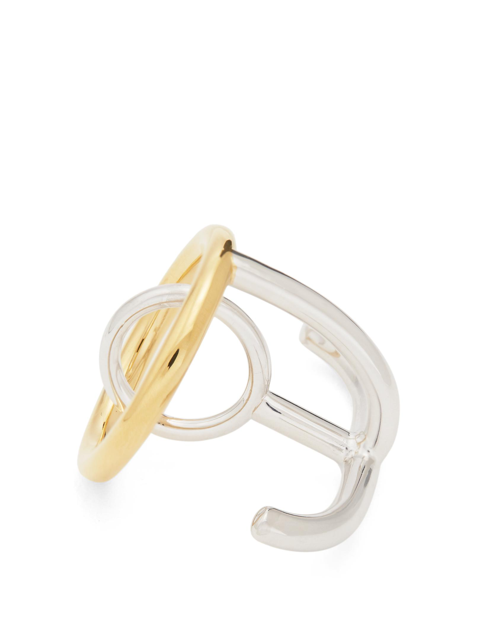 Charlotte Chesnais Saturn silver and gold-plated ring 1d8dC0